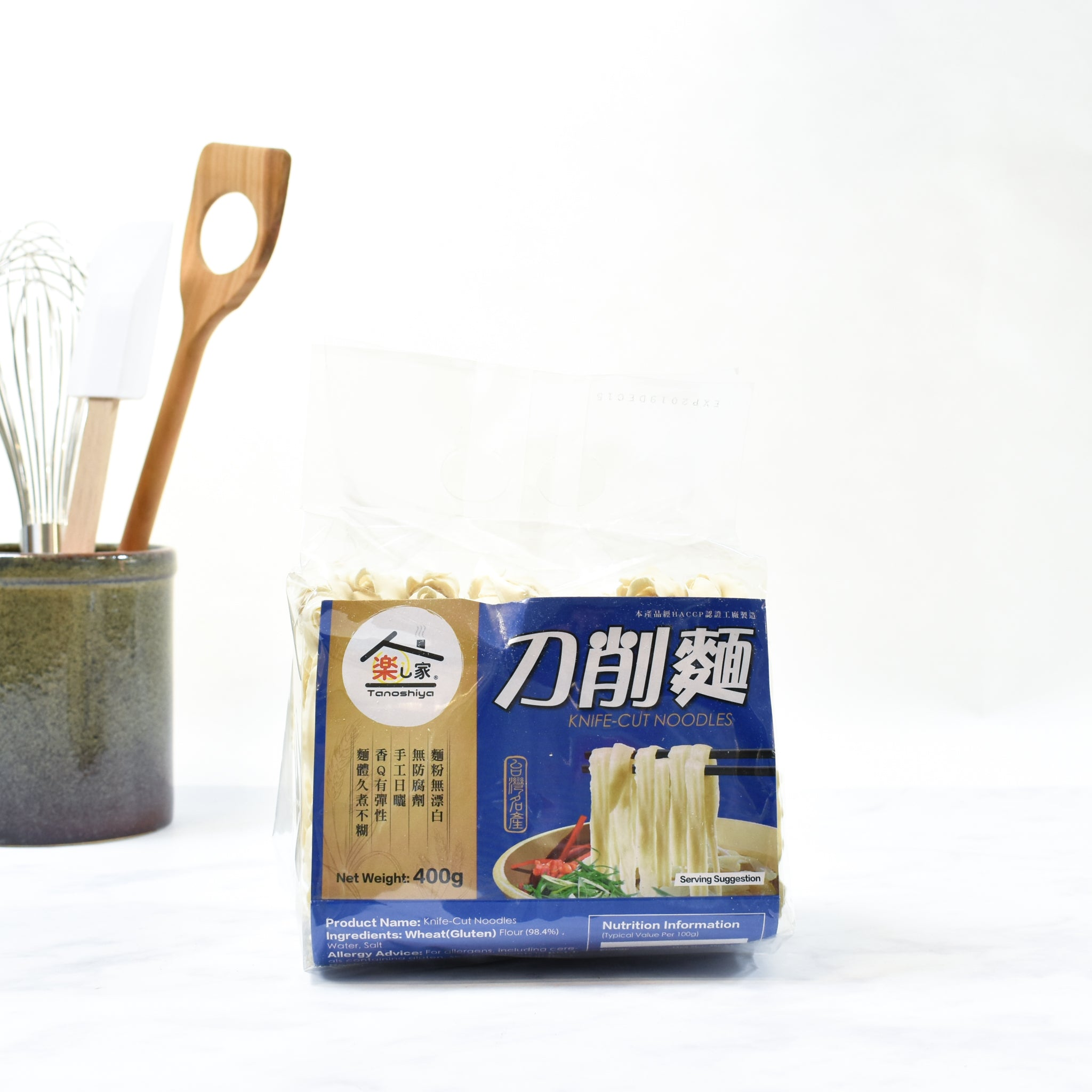 Knife-cut Noodles 400g lifestyle photograph