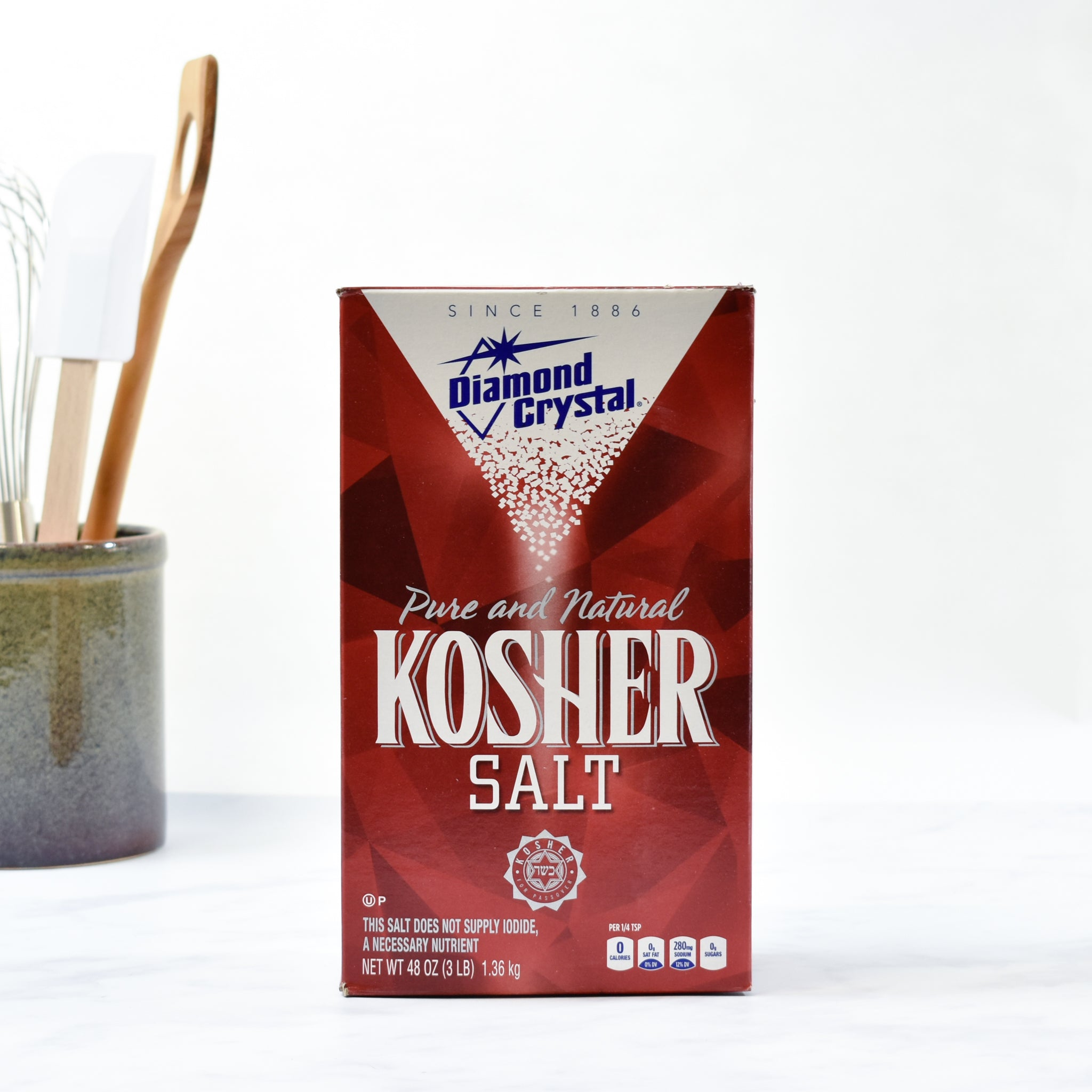 Diamond Crystal Kosher Salt 1.3kg lifestyle photograph