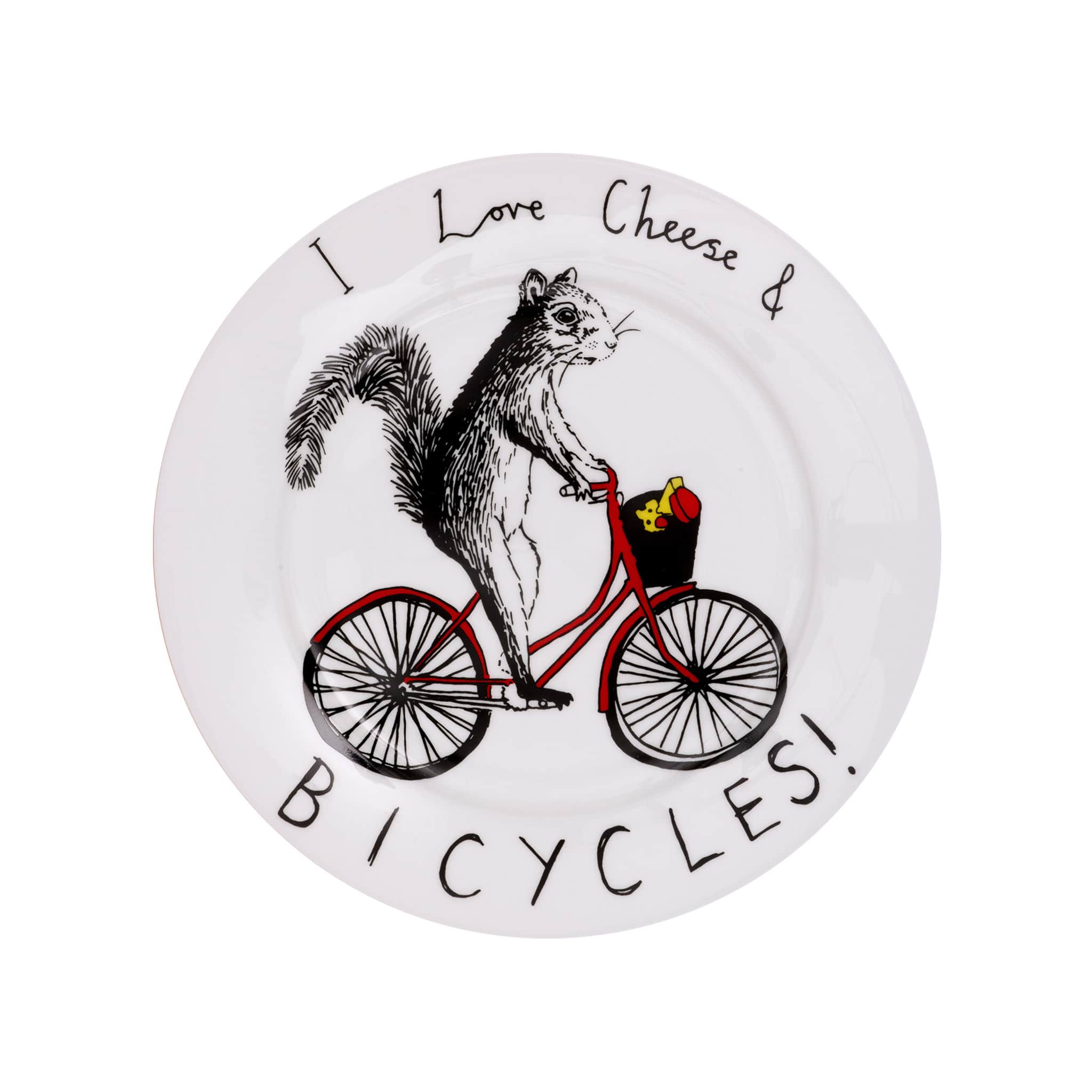 I Love Cheese & Bicycles Side Plate 20cm