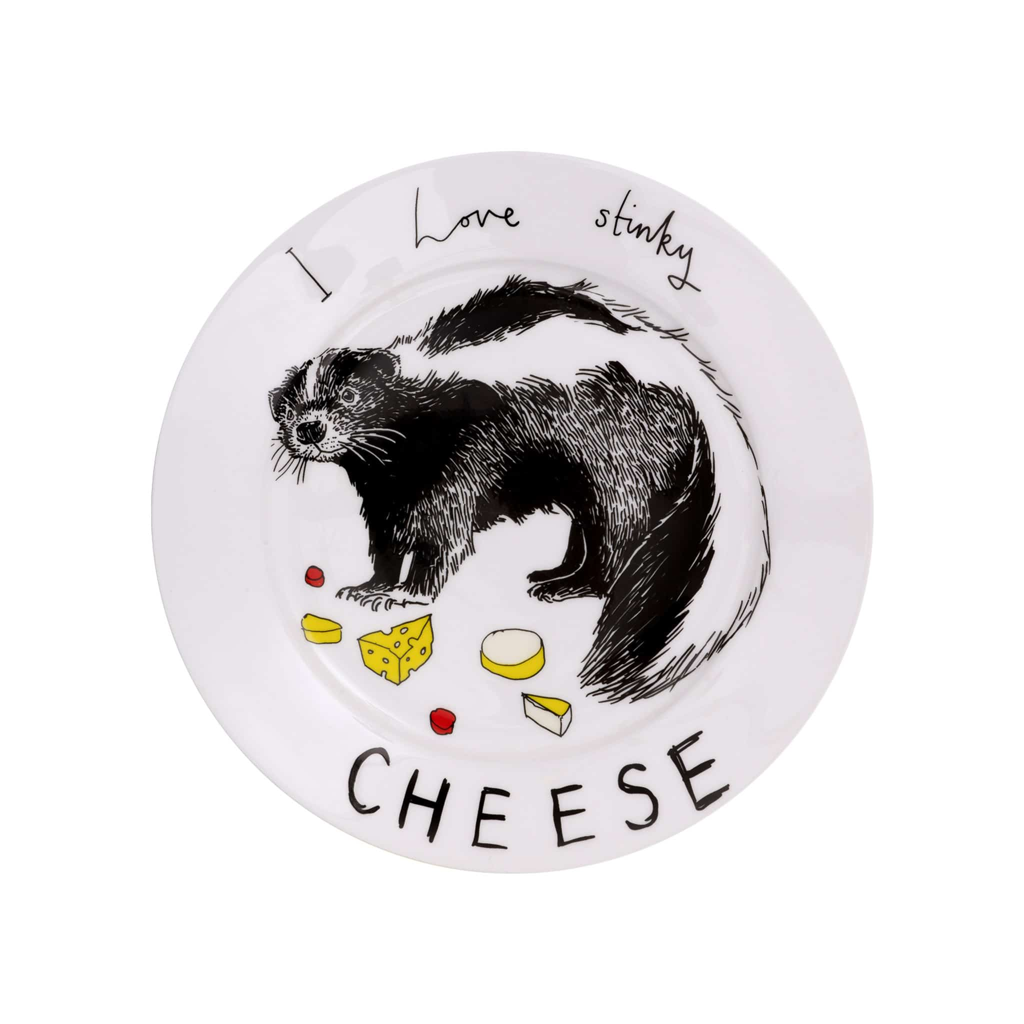 I Love Stinky Cheese Side Plate 20cm