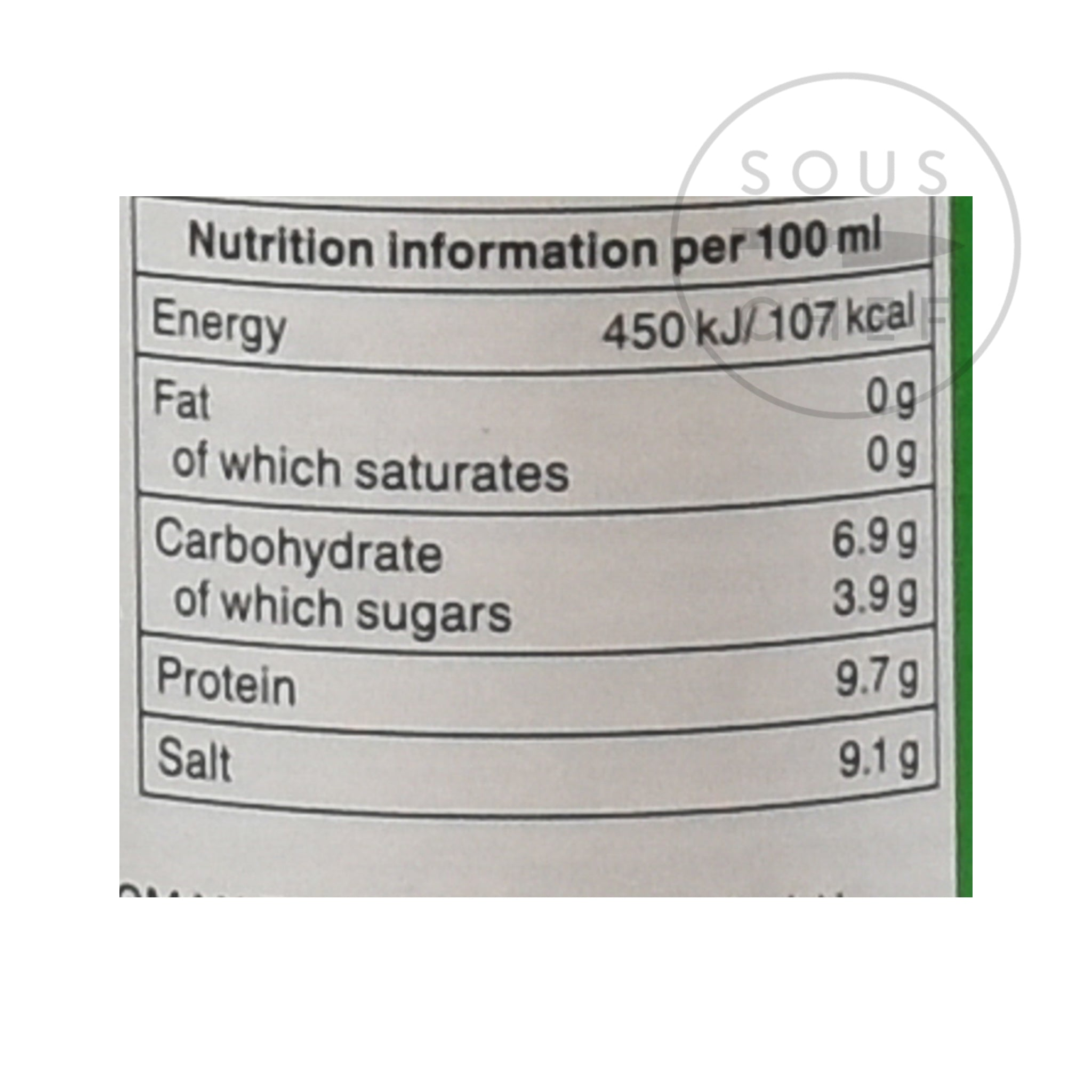 Kikkoman Soy Sauce - Less Salt 250ml nutritional information