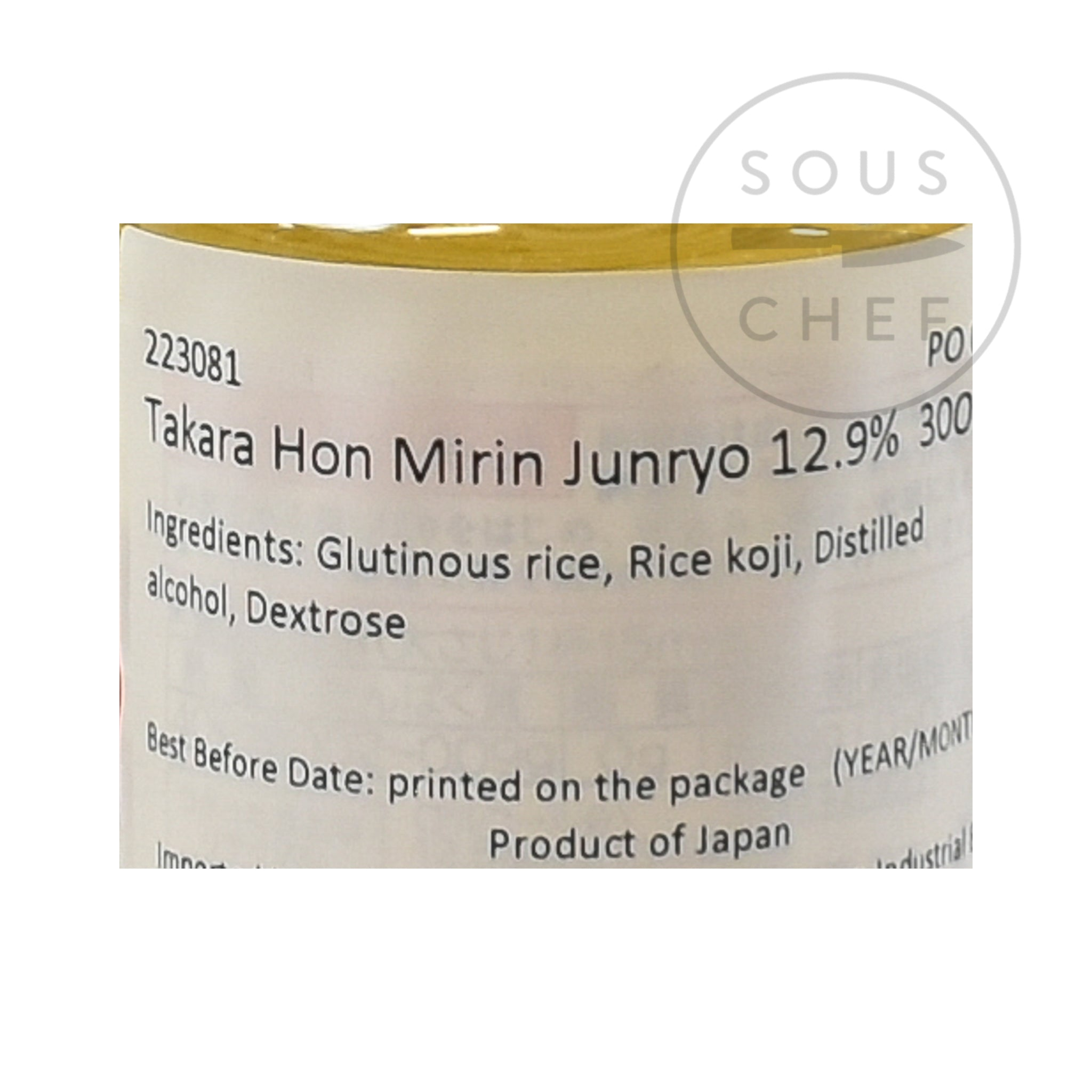Hon Mirin Rice Wine 300ml nutritional information ingredients