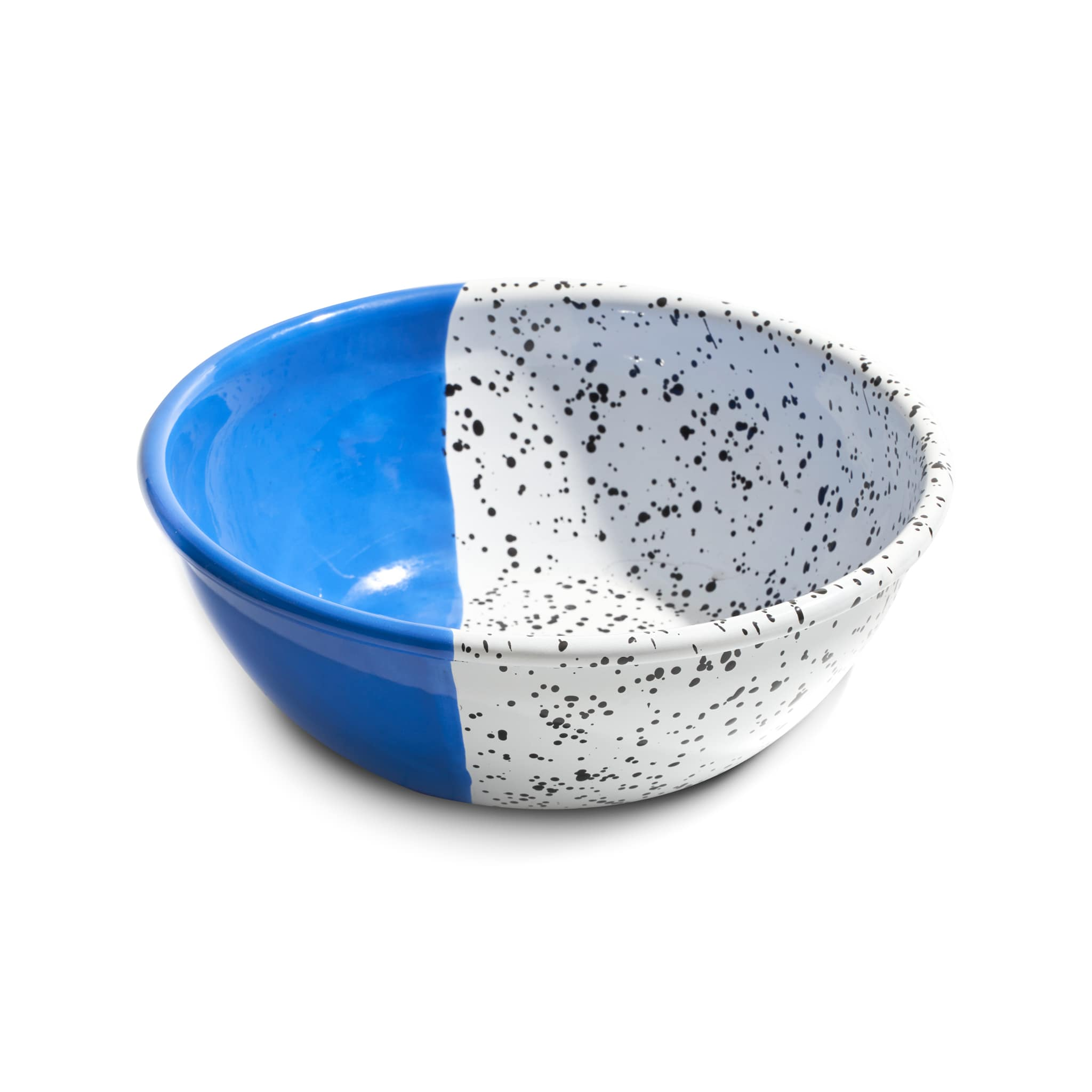 Colour Pop Enamel Salad Bowl Cobalt Blue 19cm