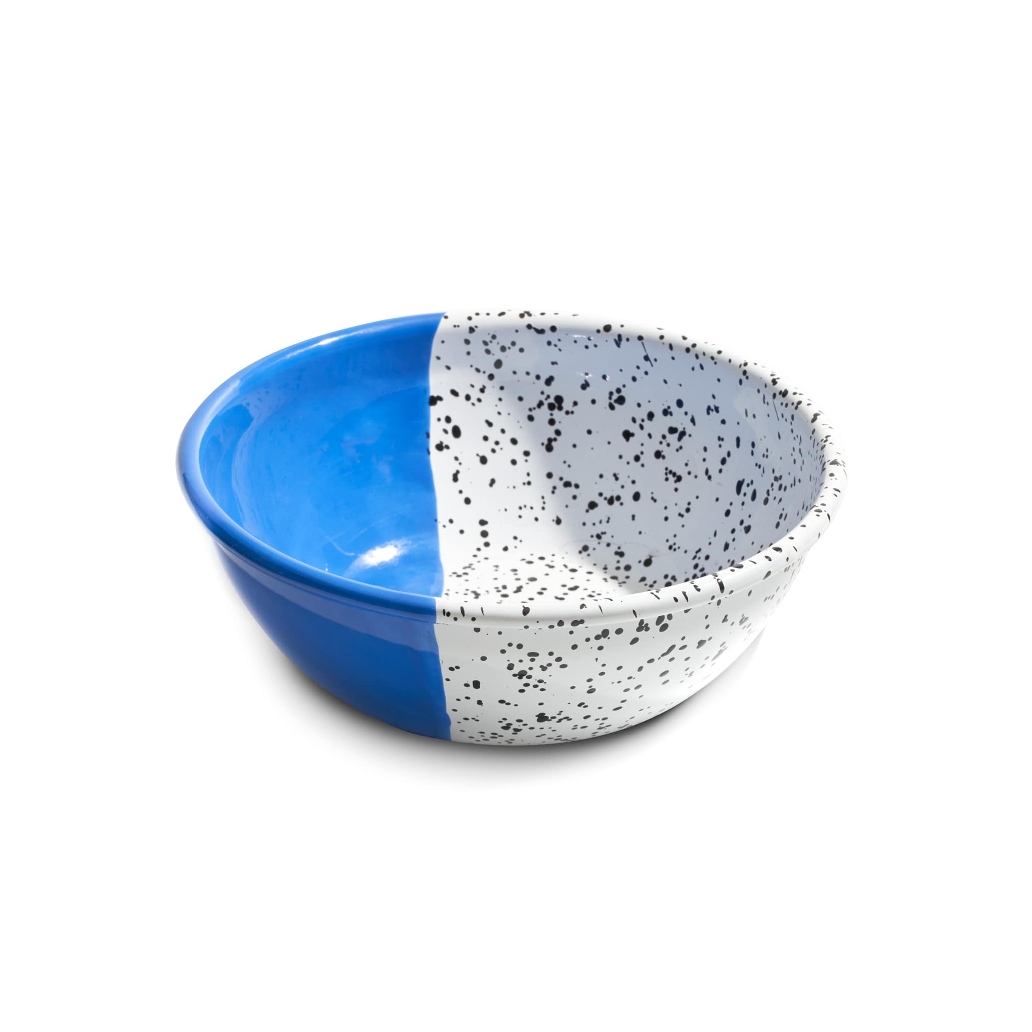 Colour Pop Enamel Salad Bowl Cobalt Blue 26cm