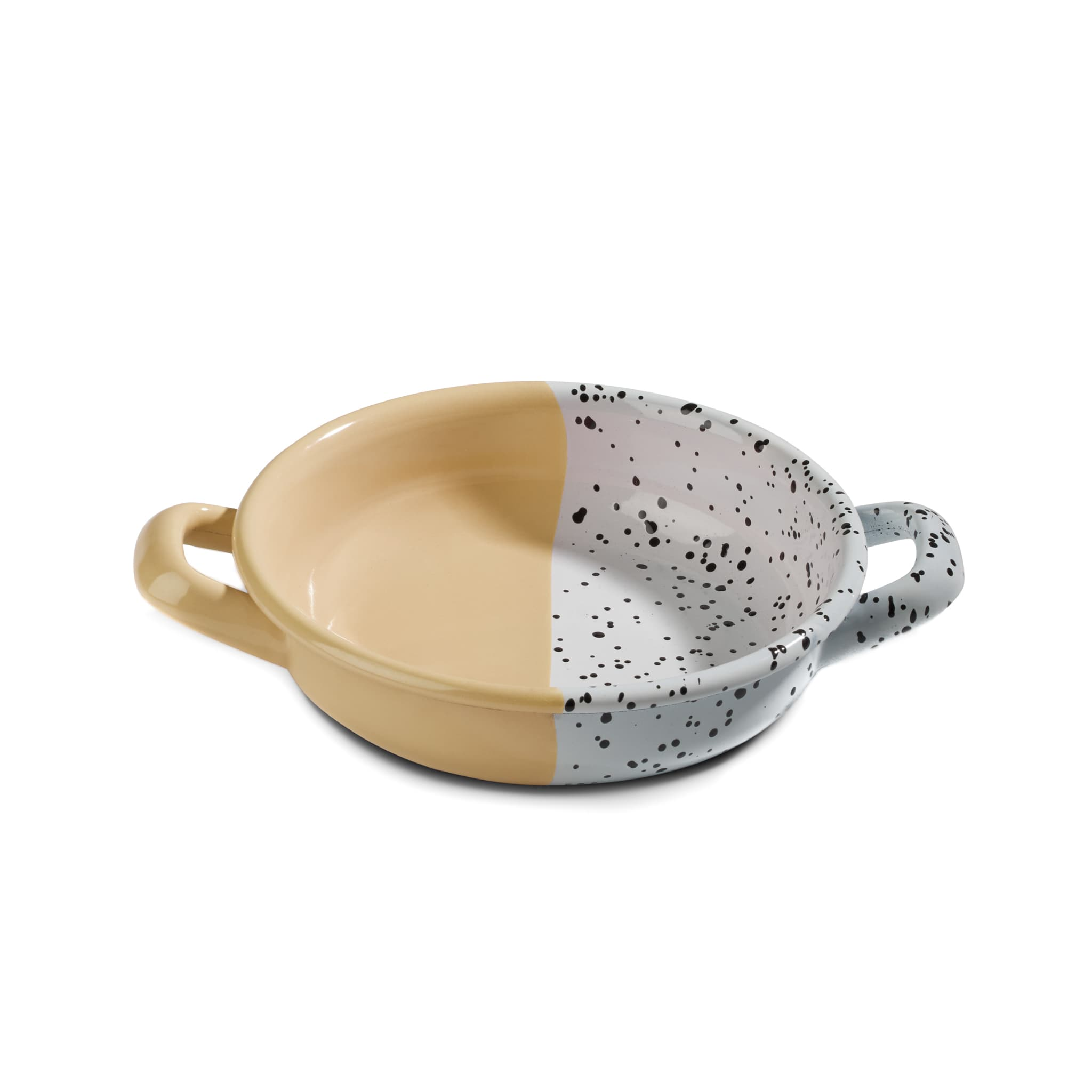 Kapka Colour Pop Enamel Frying Pan and Serving Dish Yellow 16cm Turkish Oven to Tableware
