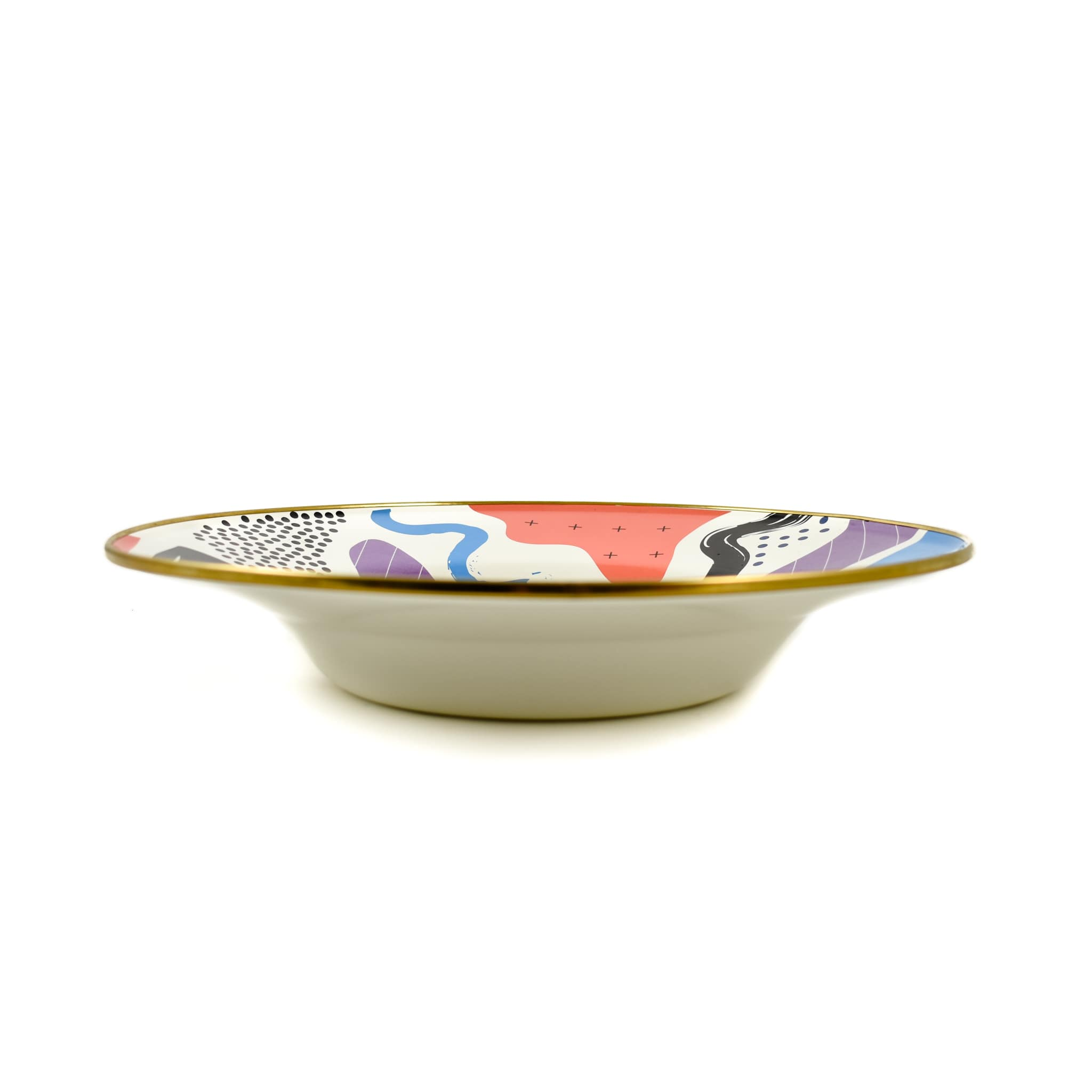 Kapka Abstract Enamel Large Serving Dish 30cm Turkish Oven to Tableware