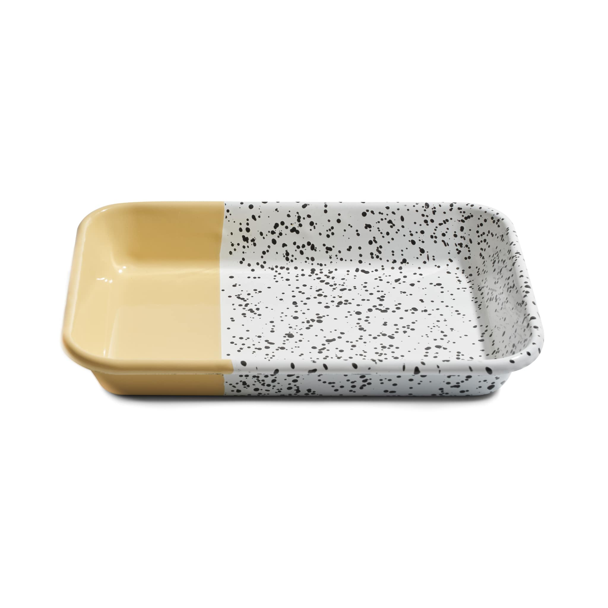 Kapka Colour Pop Enamel Roasting and Serving Dish Yellow 26cm x 18cm Turkish Oven to Tableware