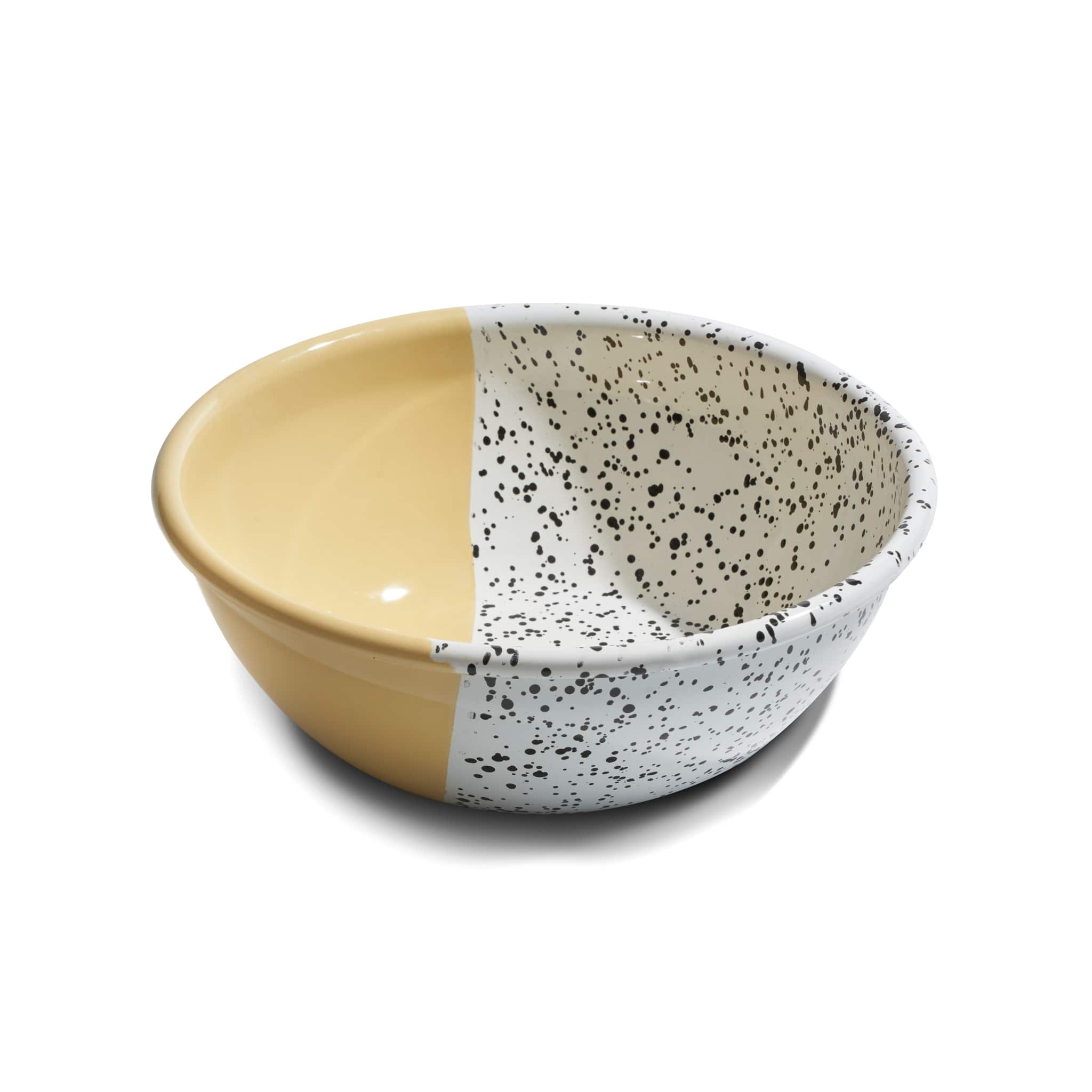 Colour Pop Enamel Salad Bowl Yellow