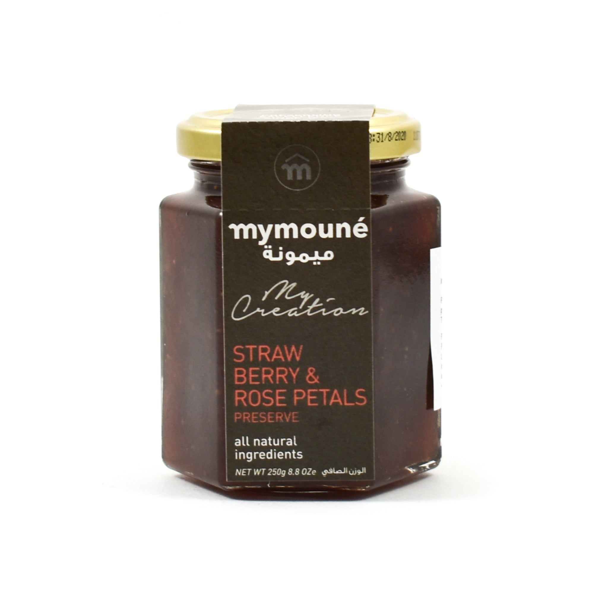 Mymoune Strawberry & Rose Petal Jam 250g Ingredients Jam Honey & Preserves