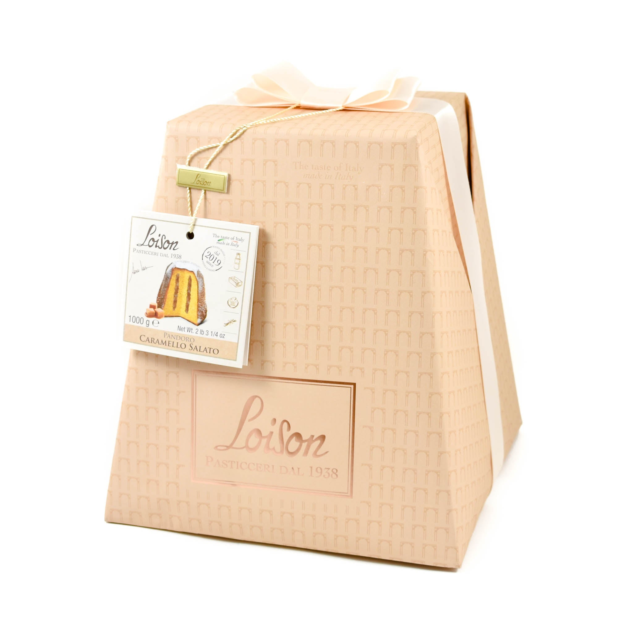 Loison Salted Caramel Pandoro 1kg Ingredients Chocolate Bars & Confectionery Italian Food Panettone & Pandoro
