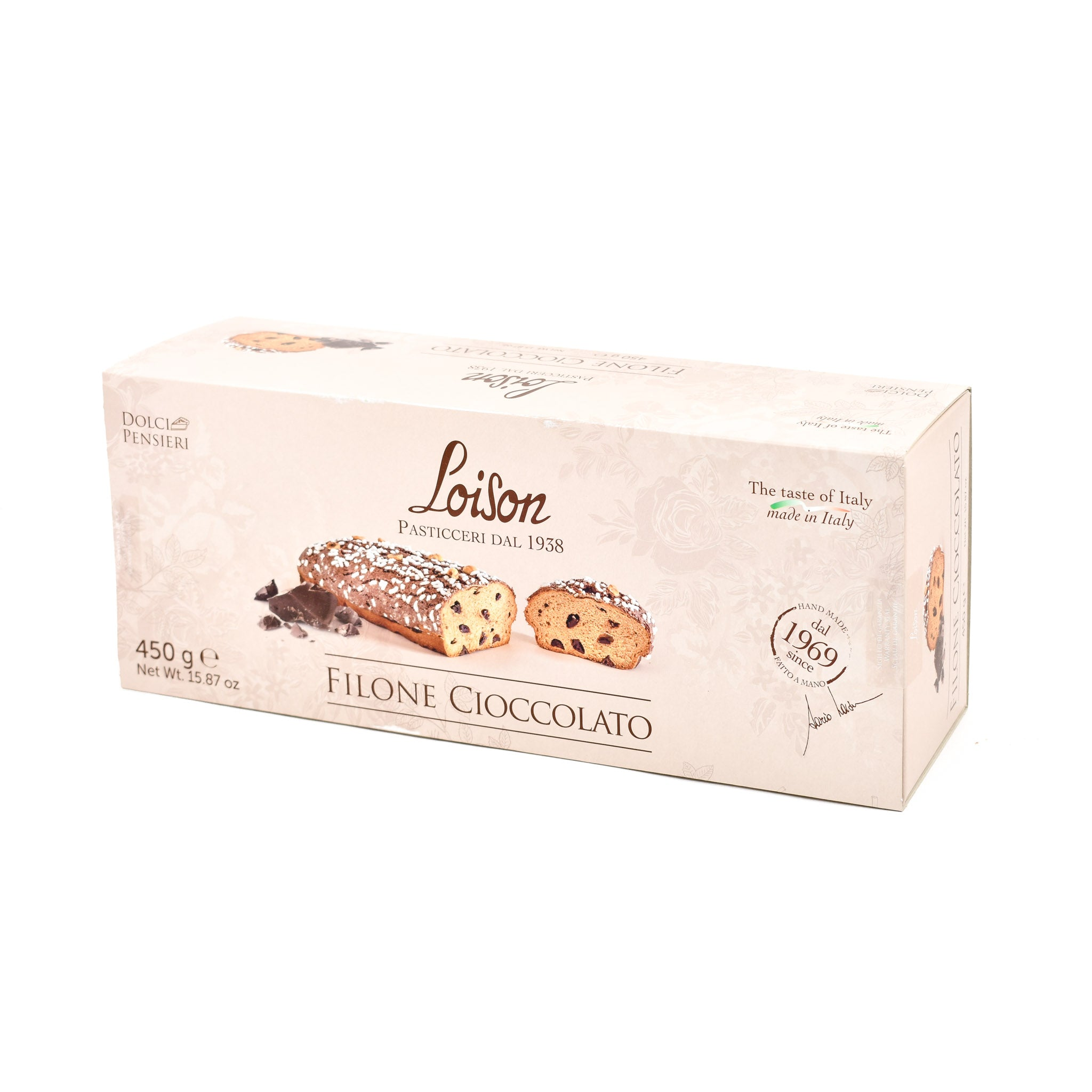 Loison Chocolate Filone 450g Ingredients Chocolate Bars & Confectionery Italian Food