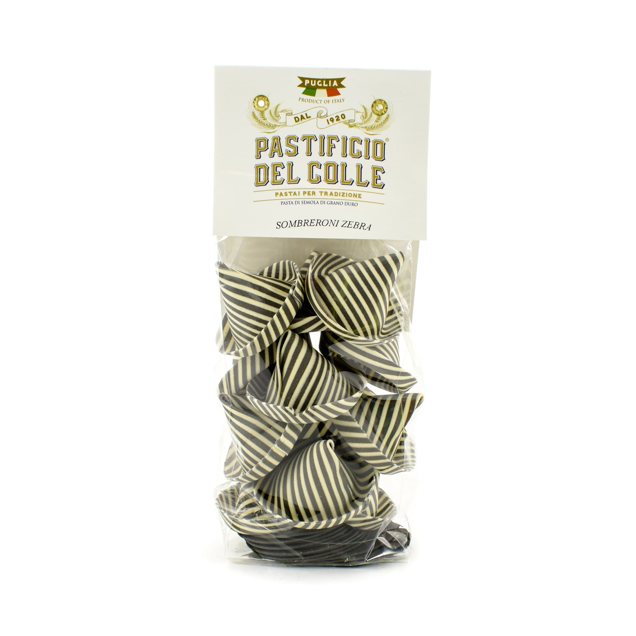 Pastificio Del Colle Squid Ink Striped Sombreroni 250g