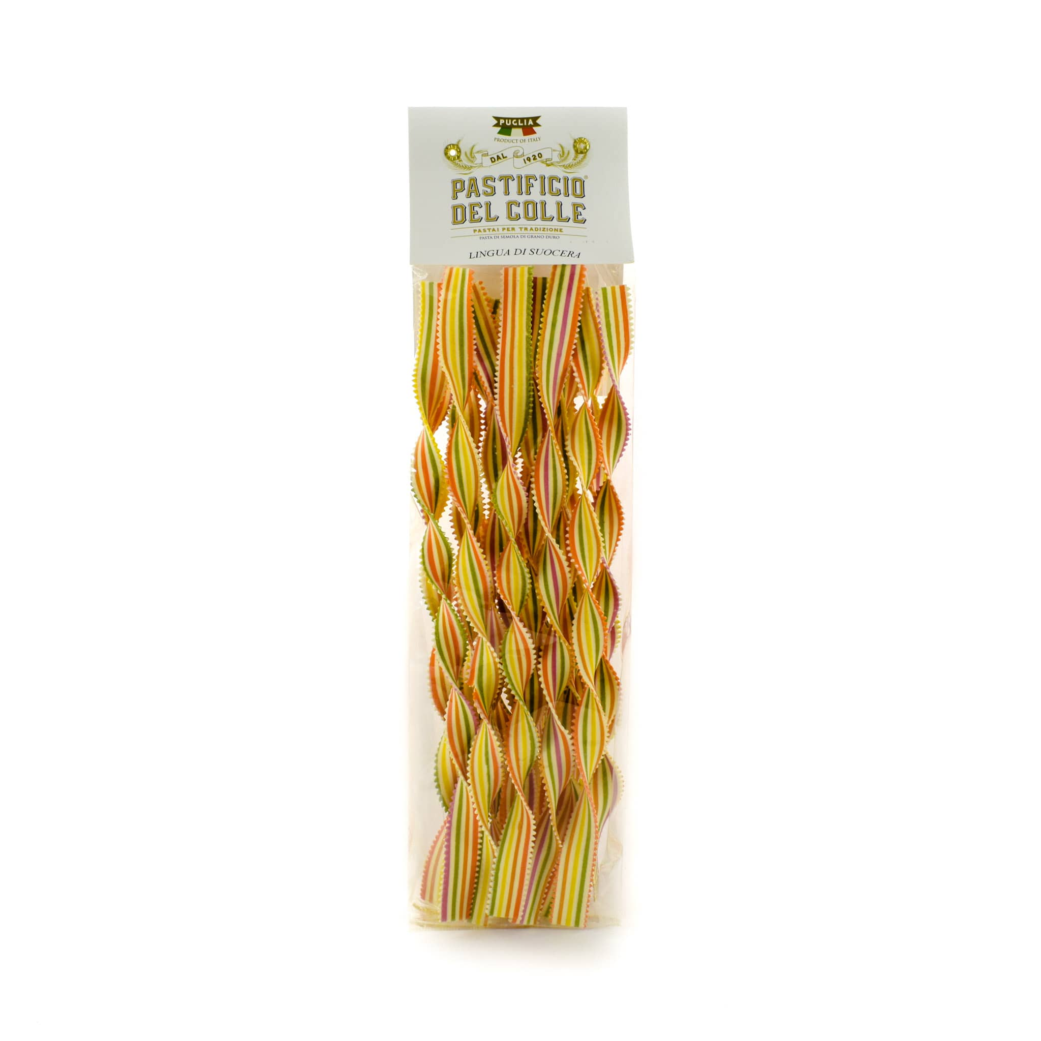 Pastificio Del Colle Rainbow Striped Lingua 250g