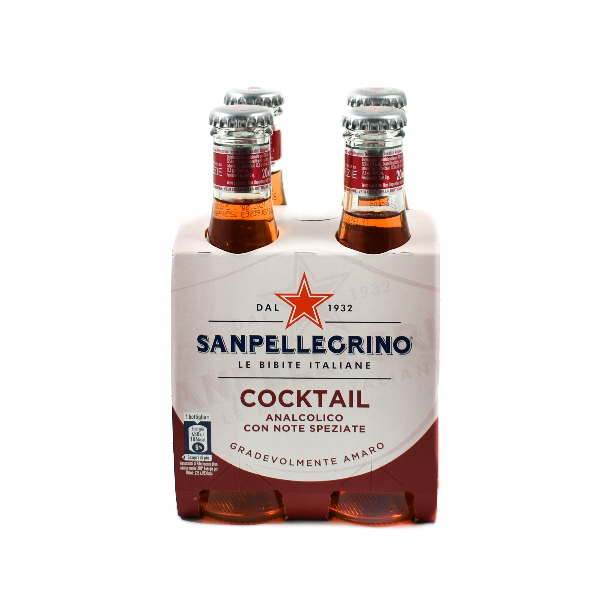 Sanpellegrino Cocktail - 20cl x 4 Ingredients Drinks Non-Alcoholic Drinks & Mocktails Italian Food
