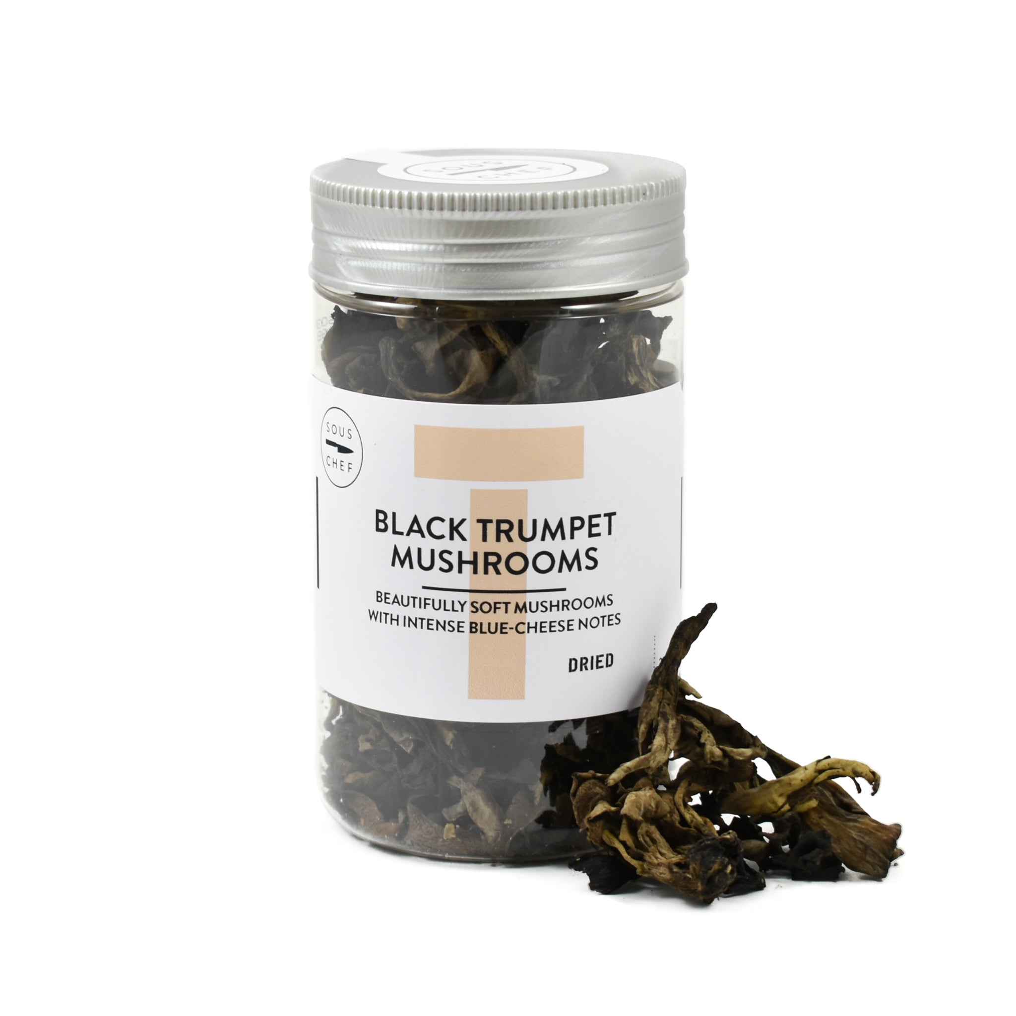 Sous Chef Dried Wild Black Trumpet Mushrooms 30g