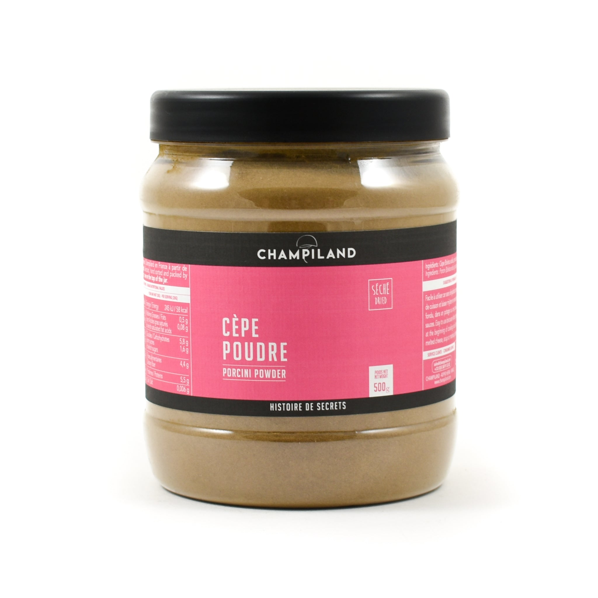 Champiland Cep Powder 500g Ingredients Mushrooms & Truffles