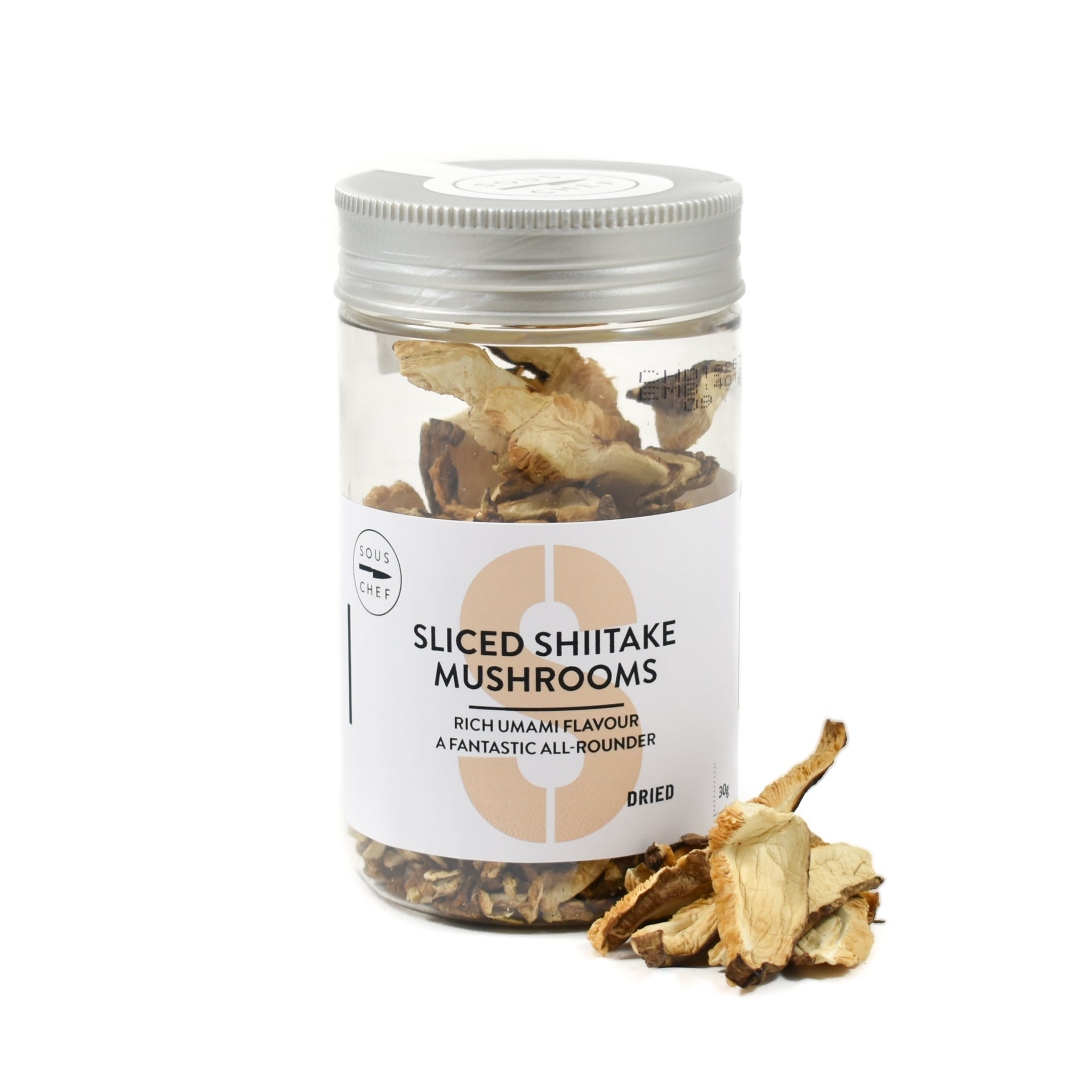Sous Chef Dried Sliced Shiitake Mushrooms 30g