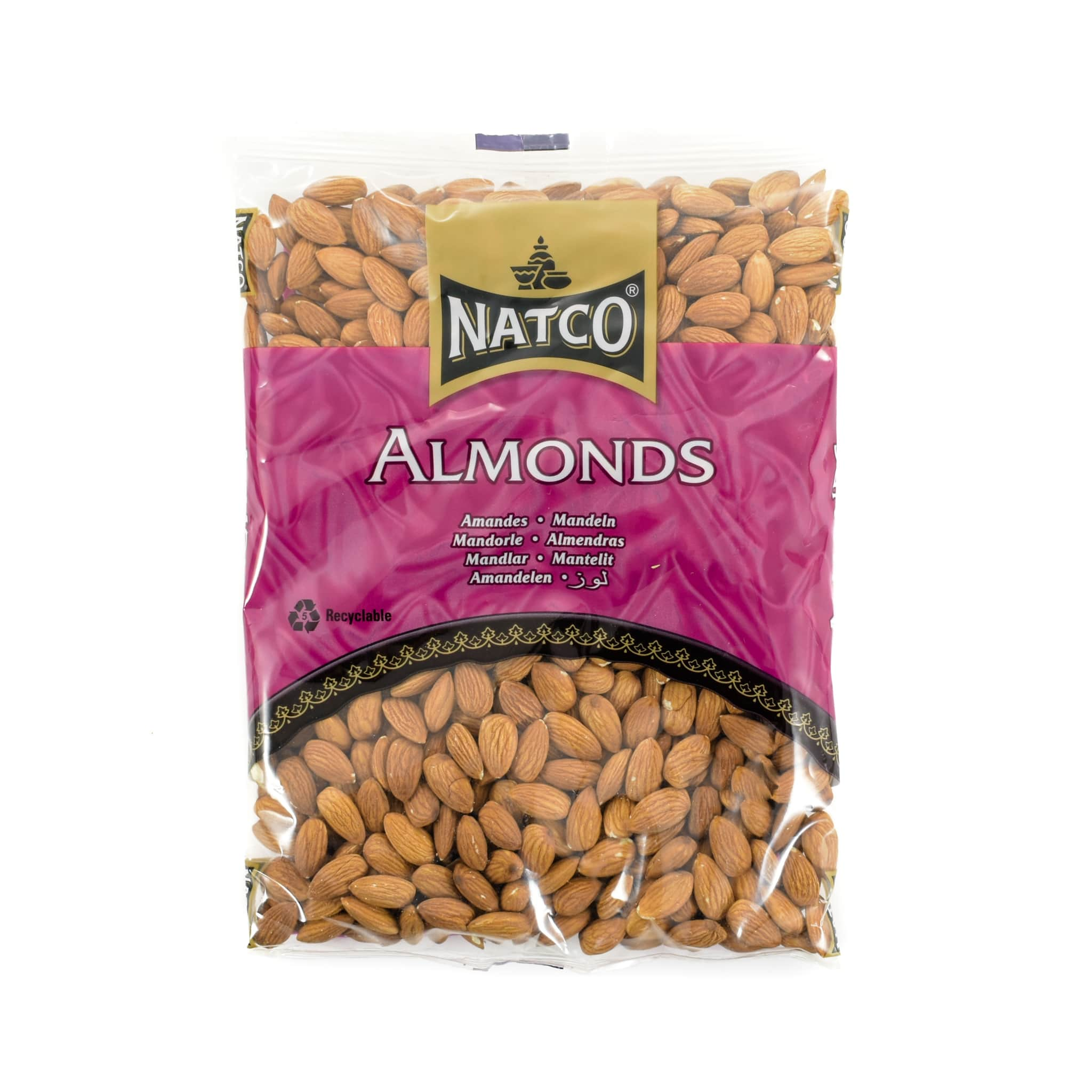 Natco Whole Almonds 750g