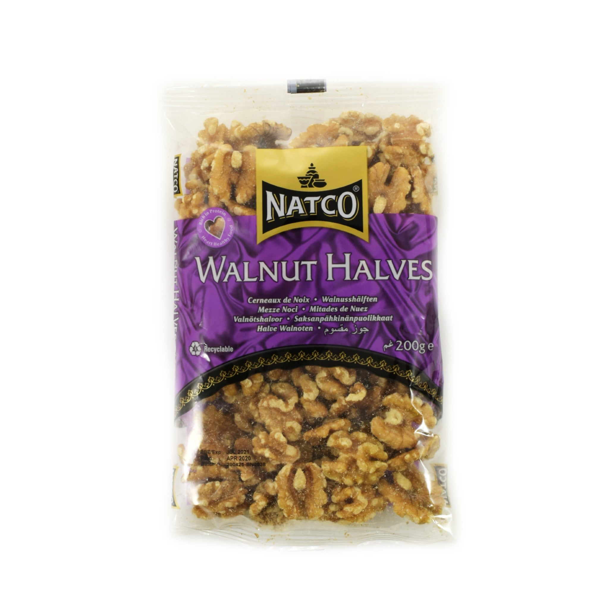 Natco Walnut Halves 200g