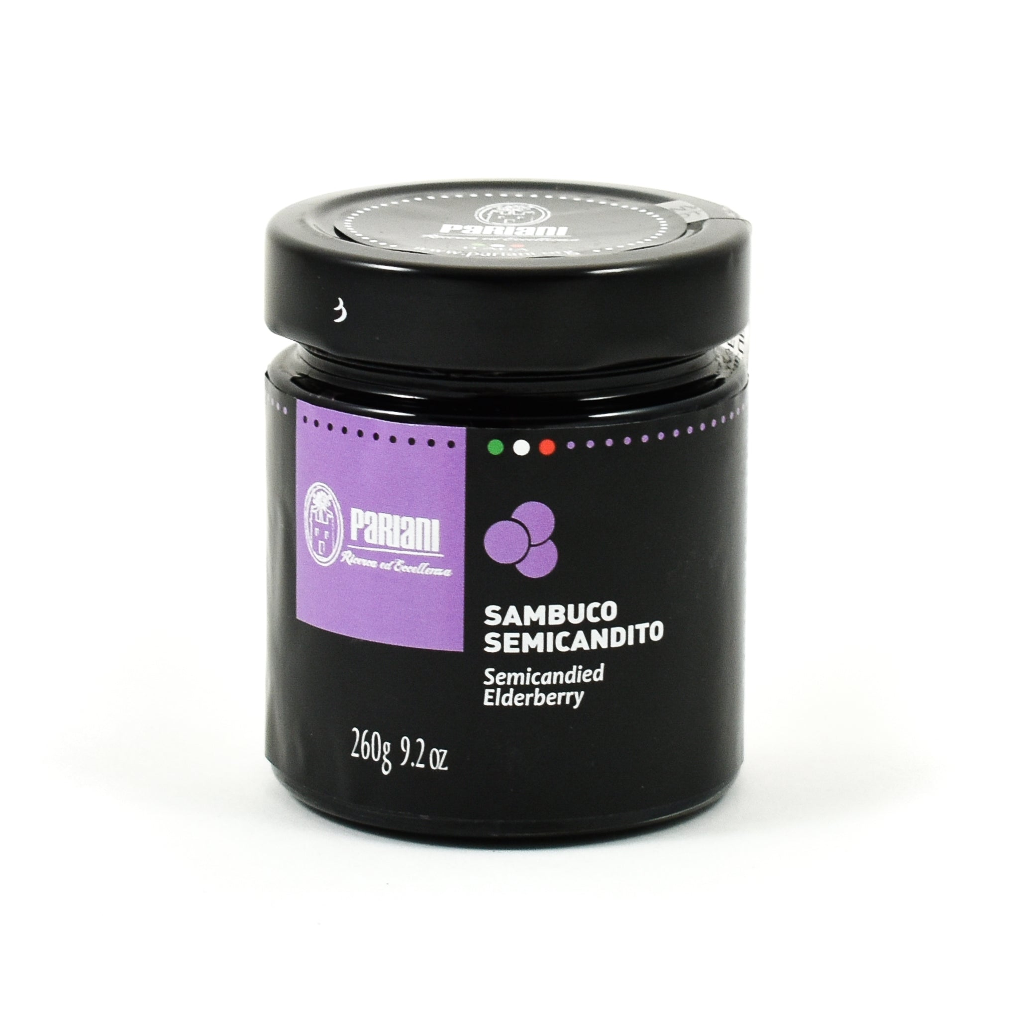 Pariani Semi-Candied Elderberries 260g Ingredients Jam Honey & Preserves Italian Food