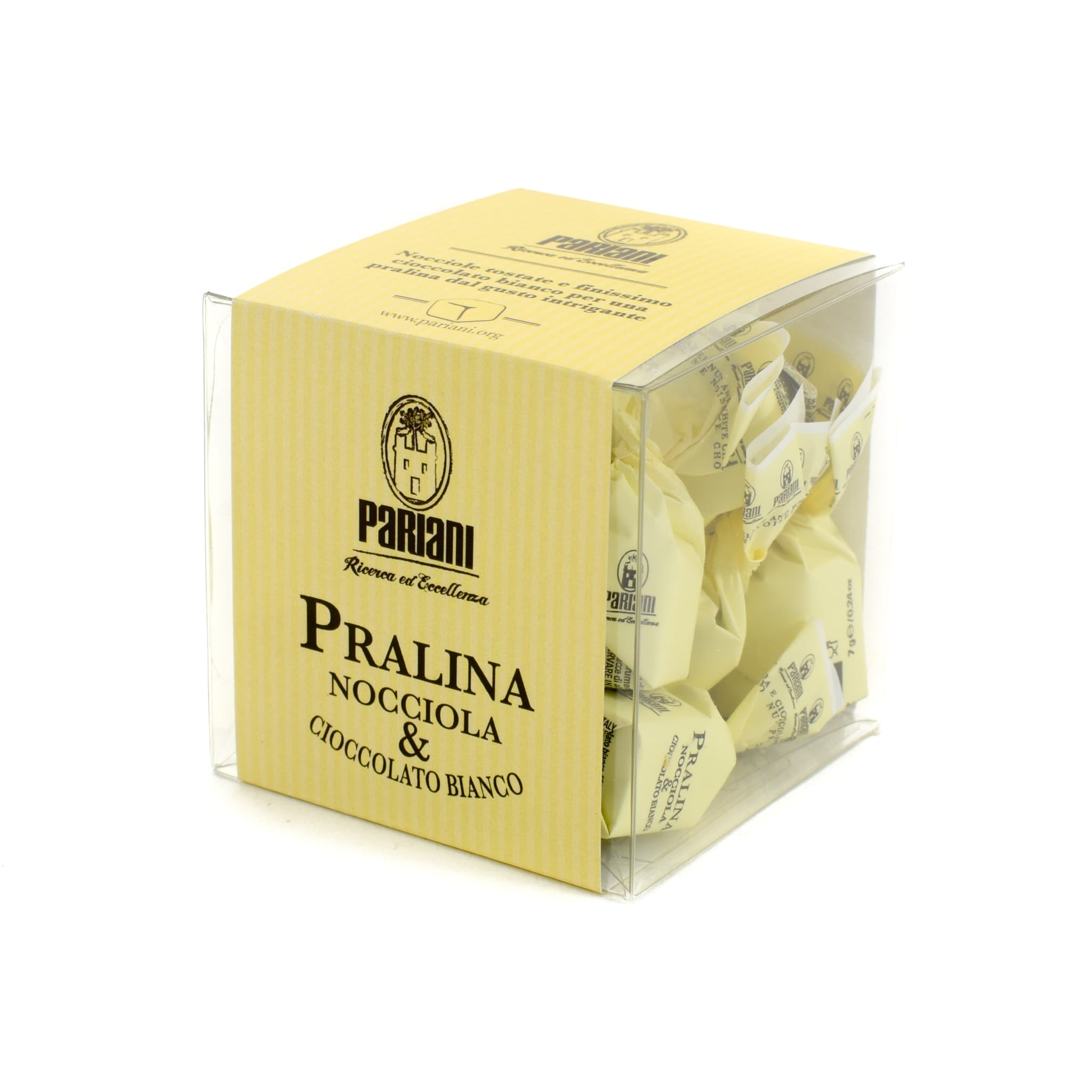 Pariani Hazelnut and White Chocolate Pralines