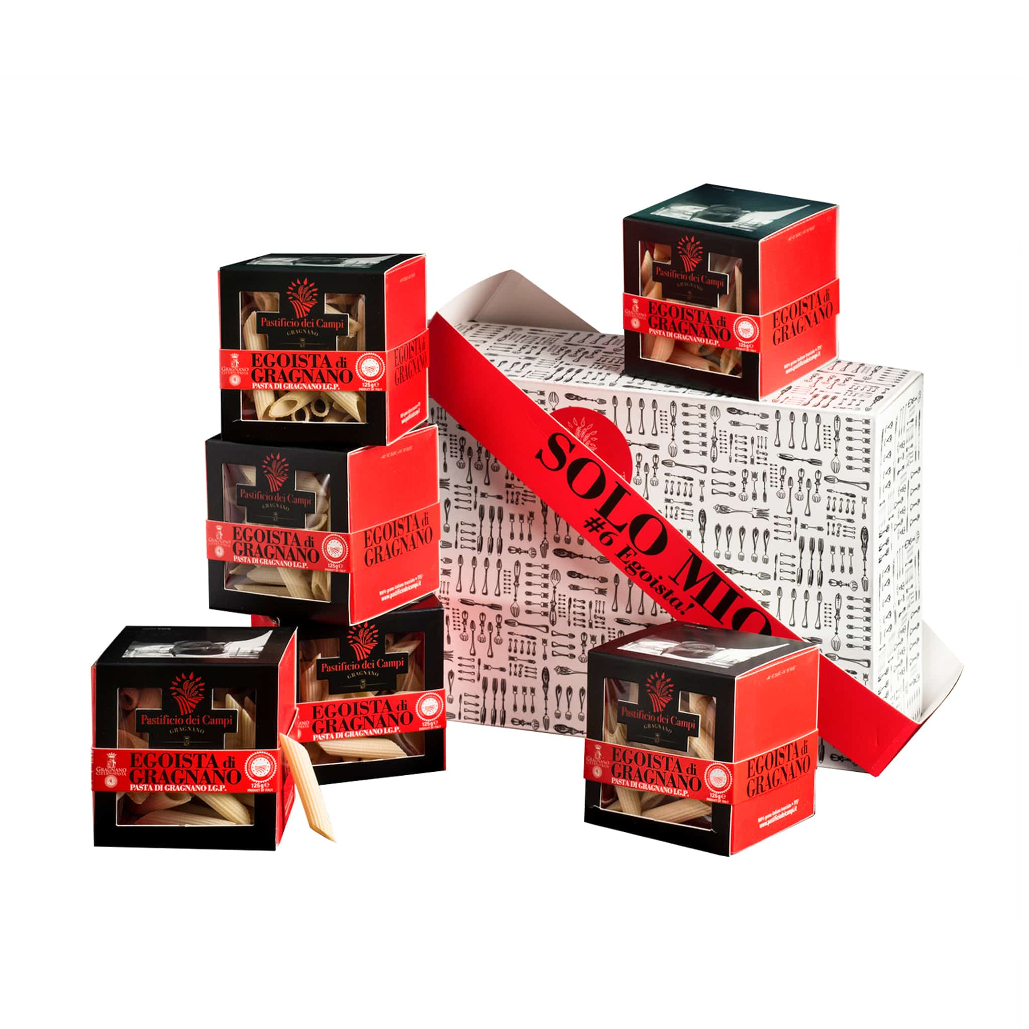 Pastificio dei Campi Solo Mio Pasta di Gragnano gift set 750g IGP Dried Durum Wheat Pasta Italian Cooking