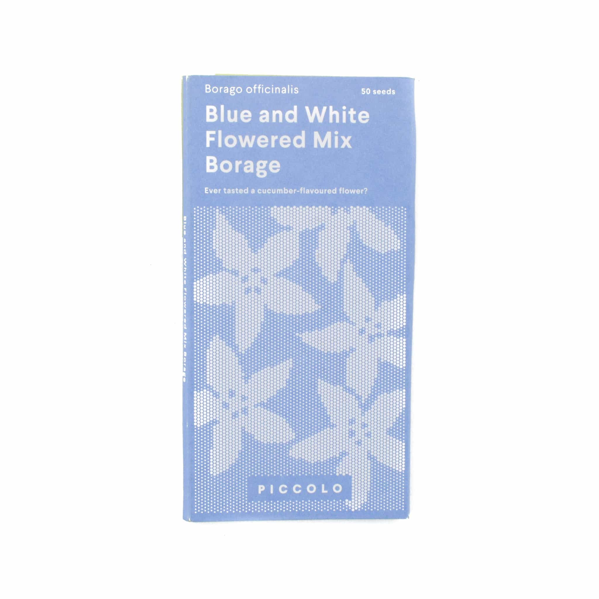 Piccolo White and Blue Mixed Borage Edible Flower Seeds