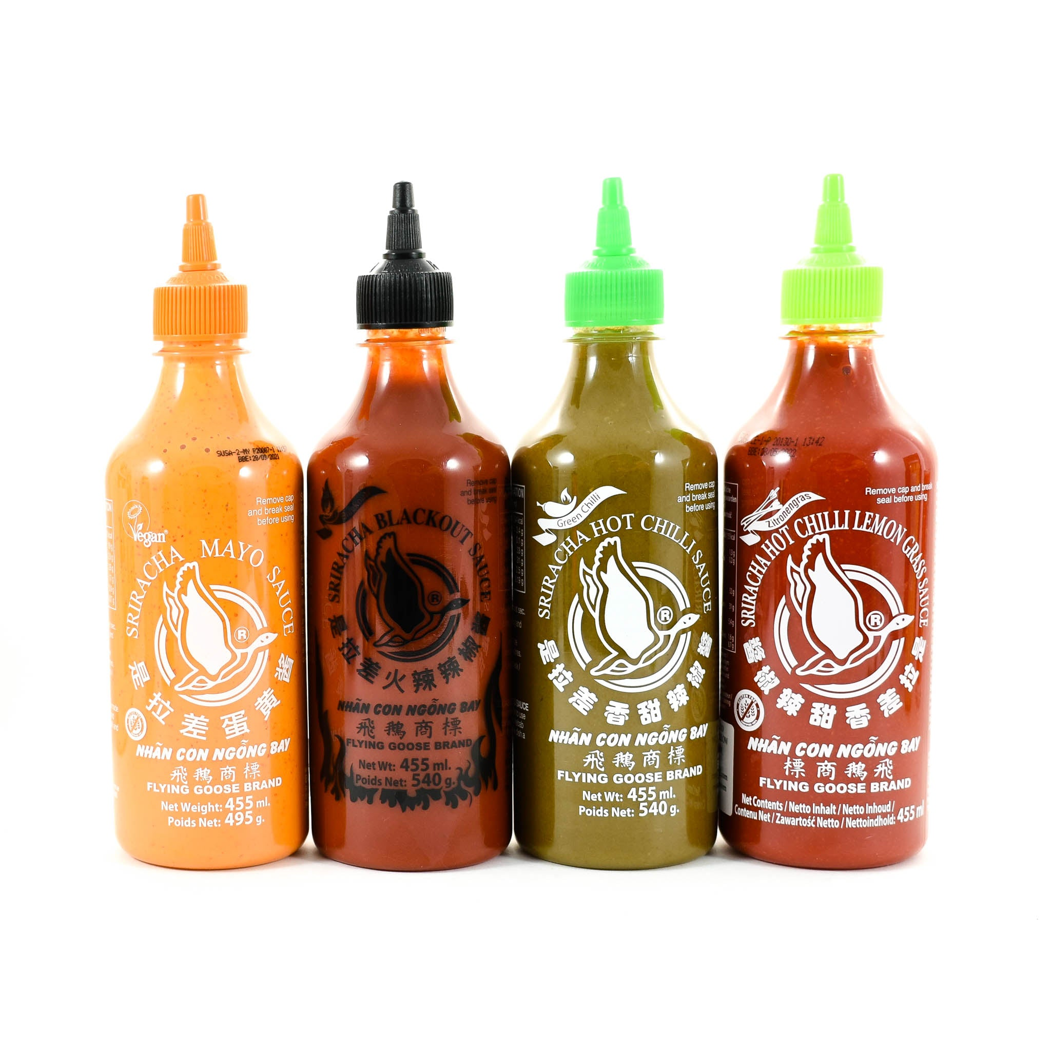 Flying Goose Sriracha Tasting Bundle 4 x 455ml