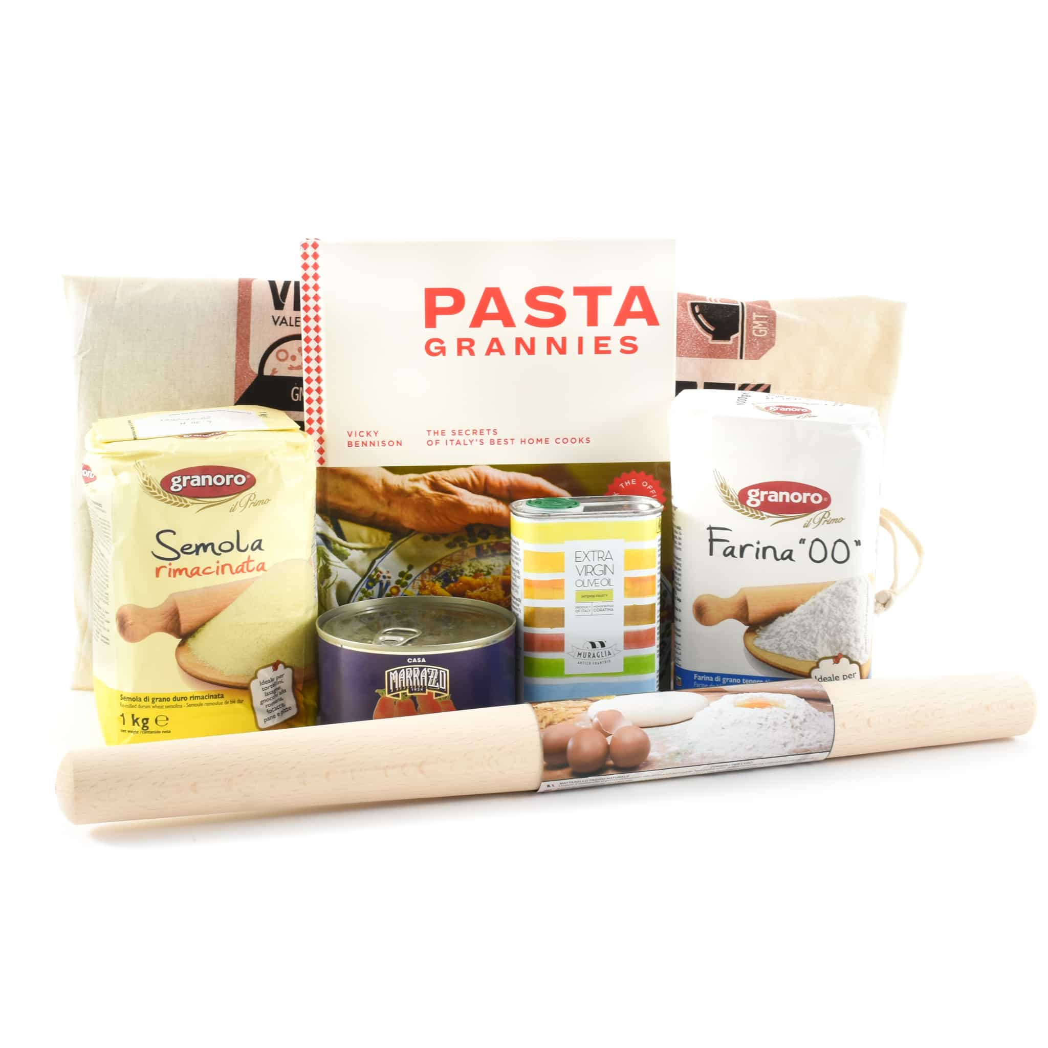 Pasta Grannies Cookbook & Ingredients Set