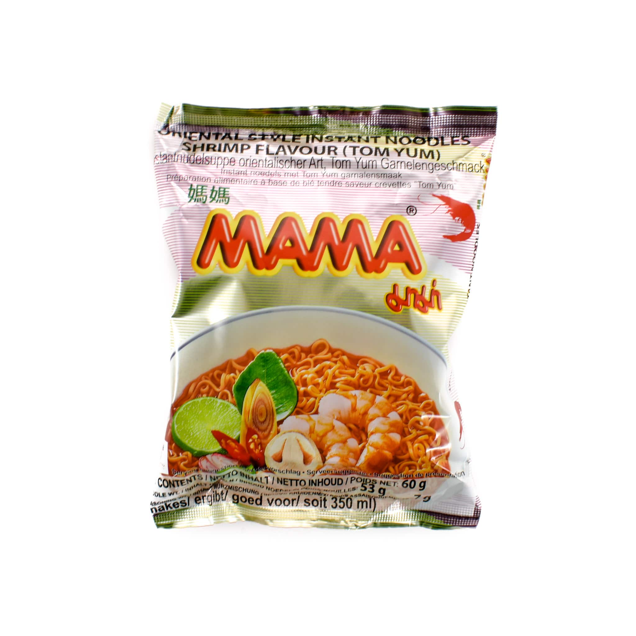 Case of Mama Instant Shrimp Noodle Tom Yum 60g x 30