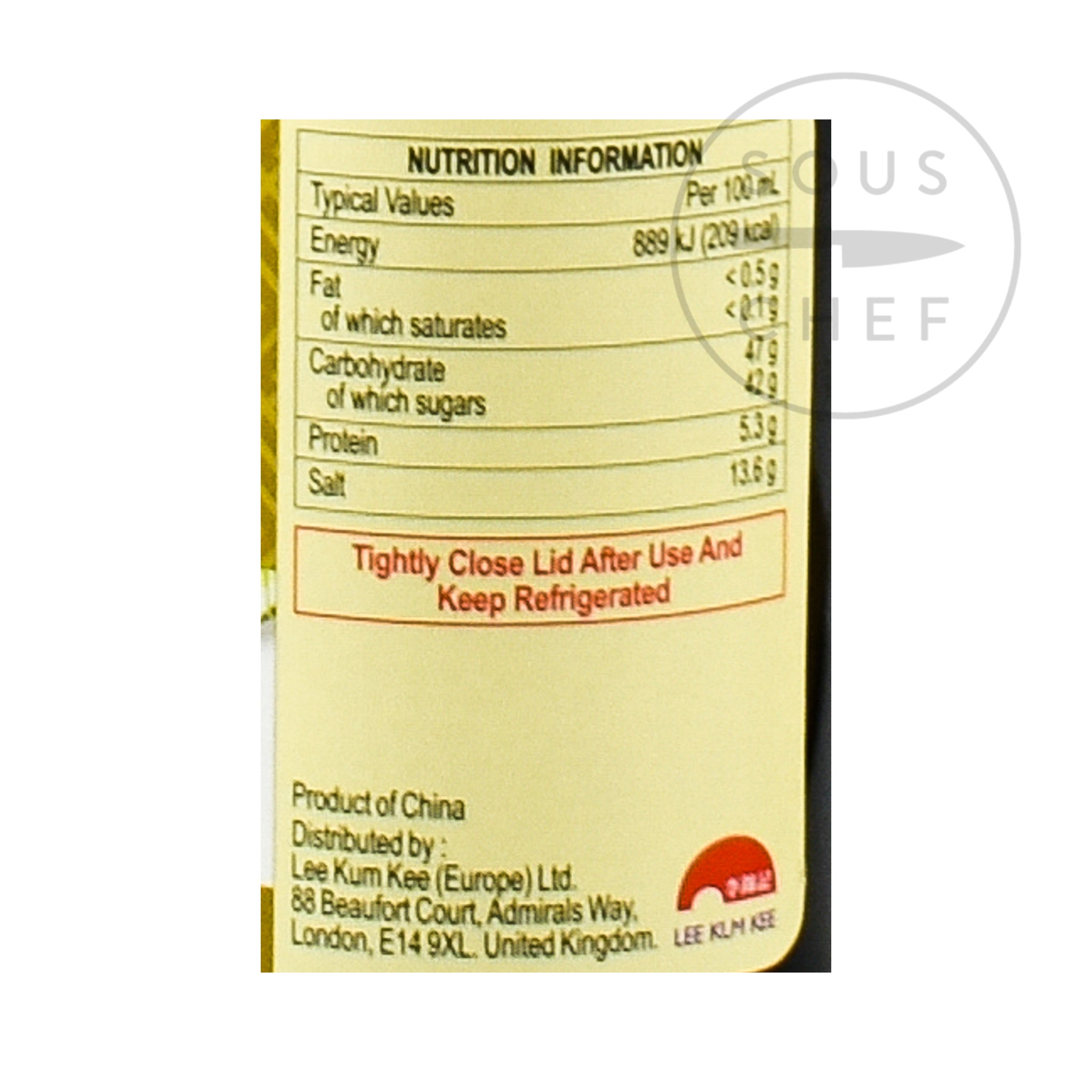 Lee Kum Kee Sweet Soy Sauce 207g Ingredients Sauces & Condiments Asian Sauces & Condiments Chinese Food