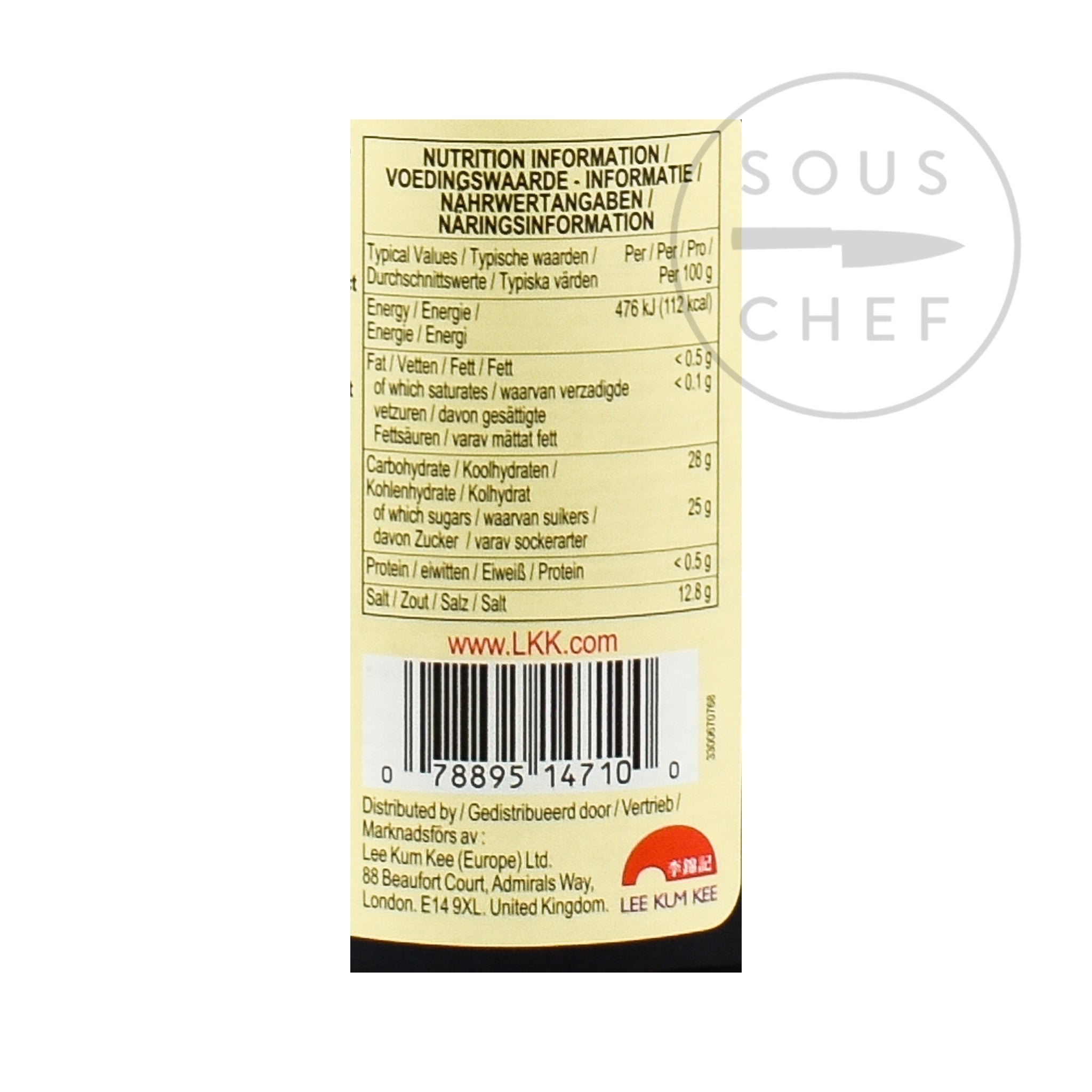 Lee Kum Kee Gluten-Free Oyster Sauce 510g Ingredients Sauces & Condiments Asian Sauces & Condiments Chinese Food