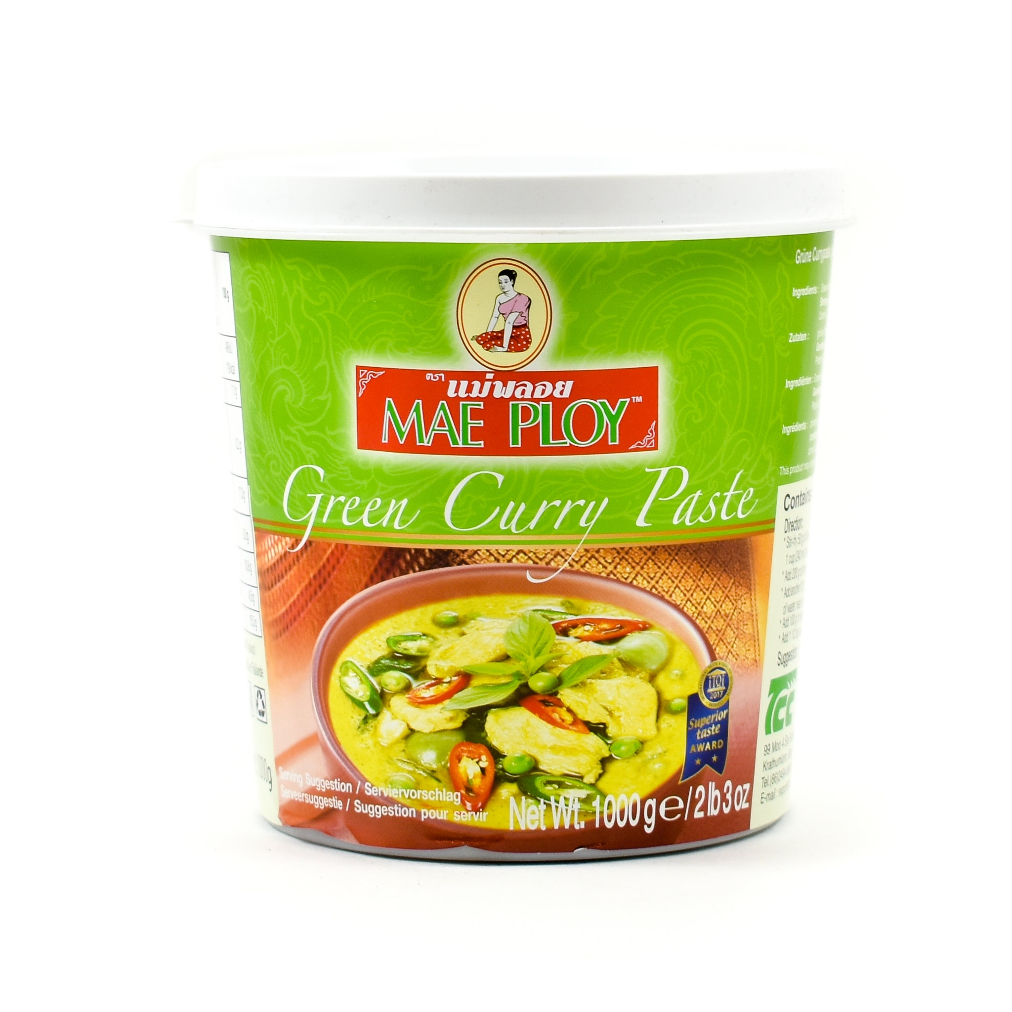 Mae Ploy Green Curry Paste 1kg Ingredients Sauces & Condiments Asian Sauces & Condiments Southeast Asian Food