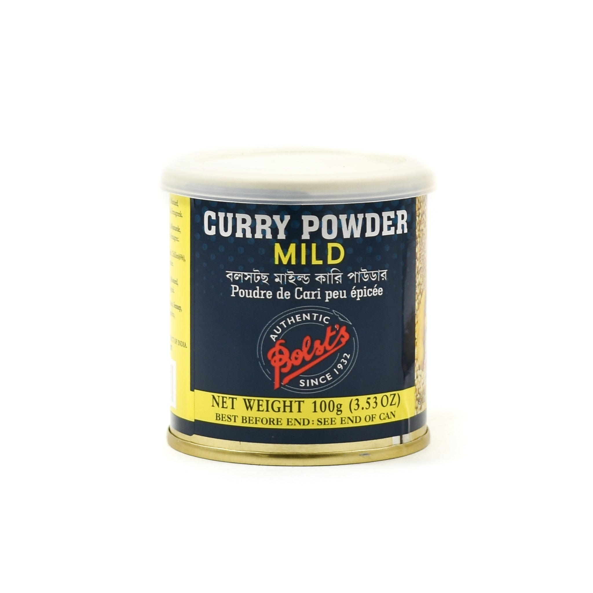 Bolt's Bolst's Curry Powder Mild 100g Ingredients Sauces & Condiments Asian Sauces & Condiments Indian Food