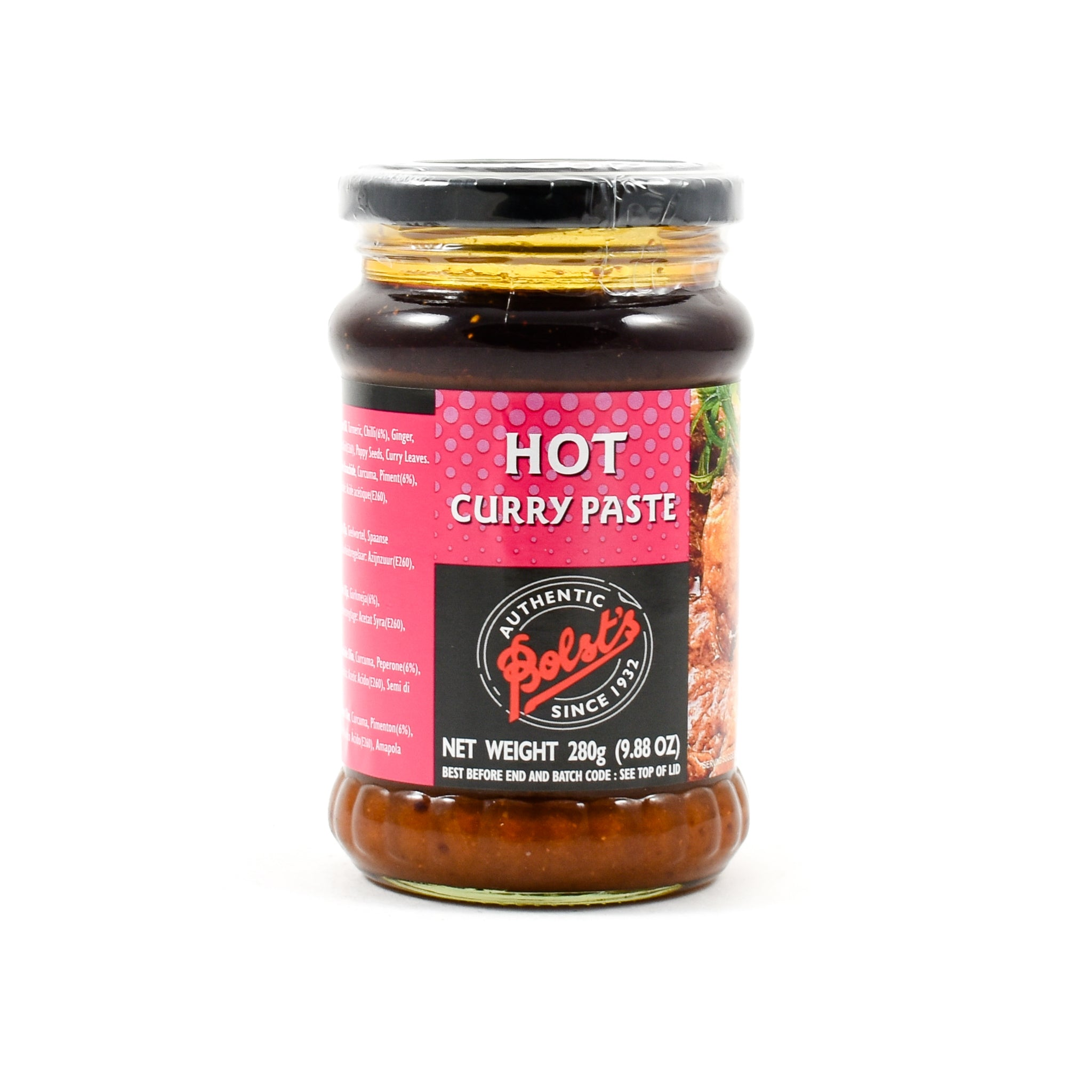 Bolt's Bolst's Curry Paste Hot 280g Ingredients Sauces & Condiments Asian Sauces & Condiments Indian Food