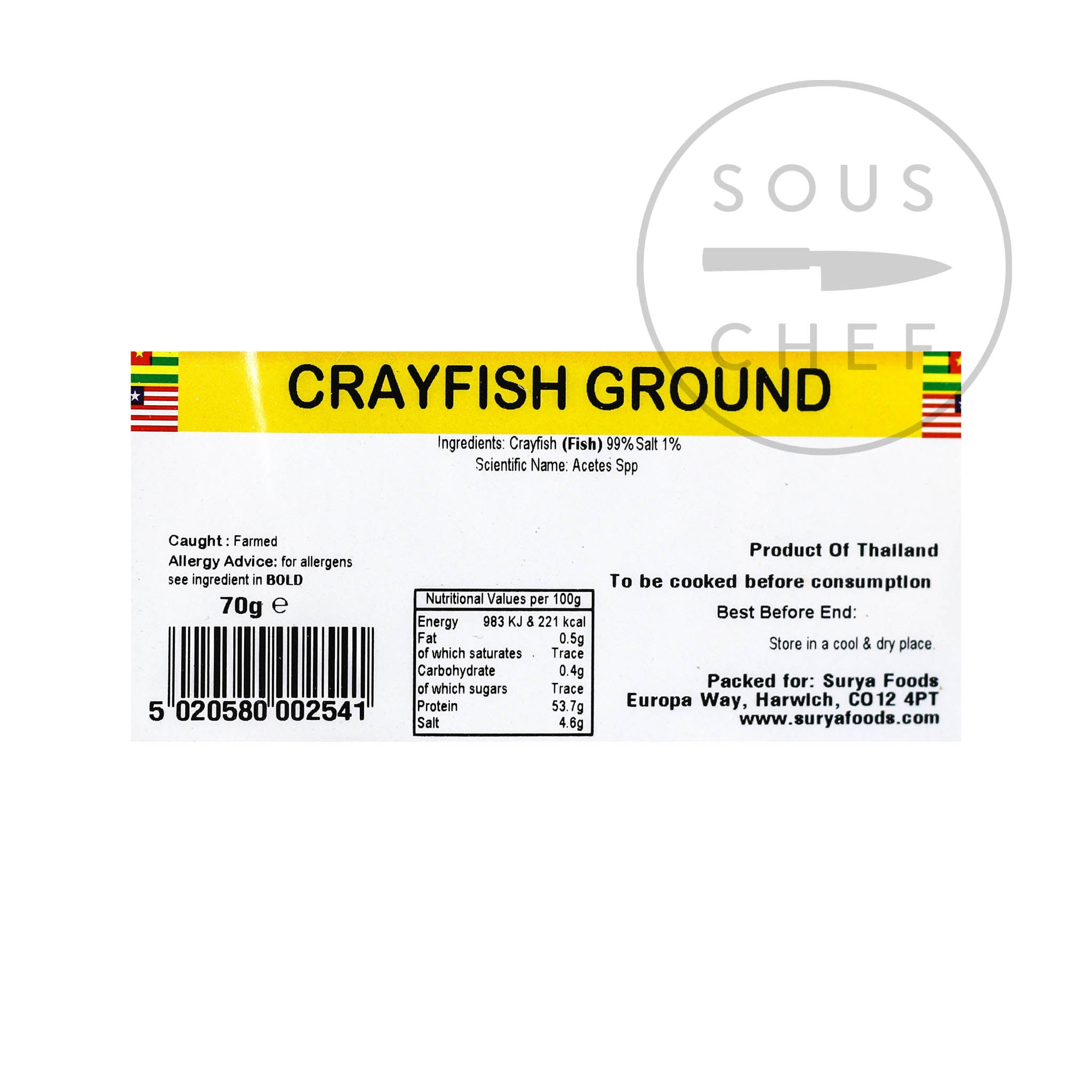 Mother Africa Ground Crayfish 70g