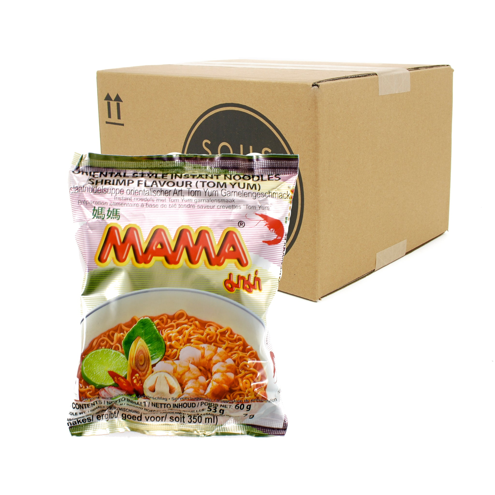 Box of Mama Instant Shrimp Noodle Tom Yum 60g x 30