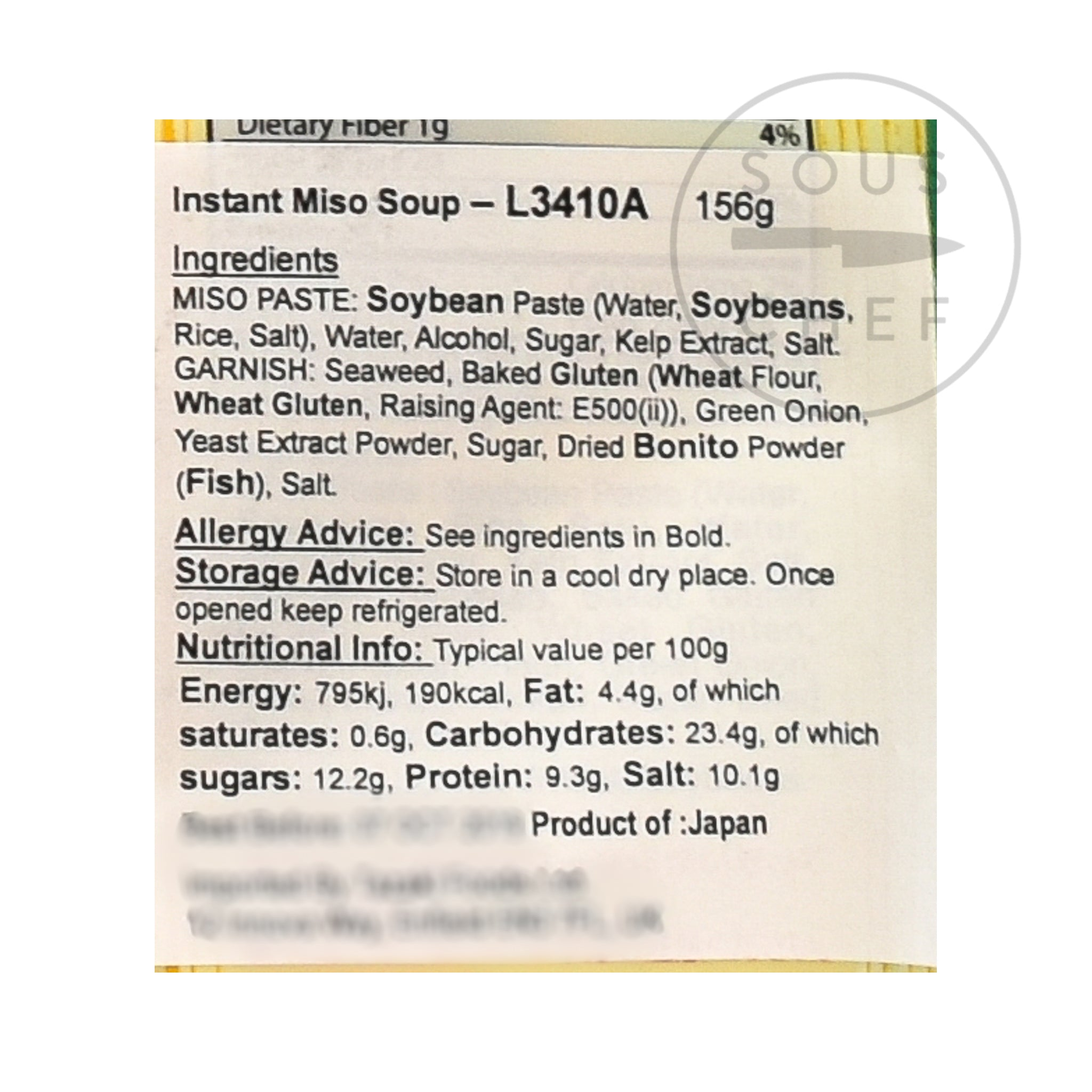 Instant Miso Soup With Wakame 8 x 22g servings