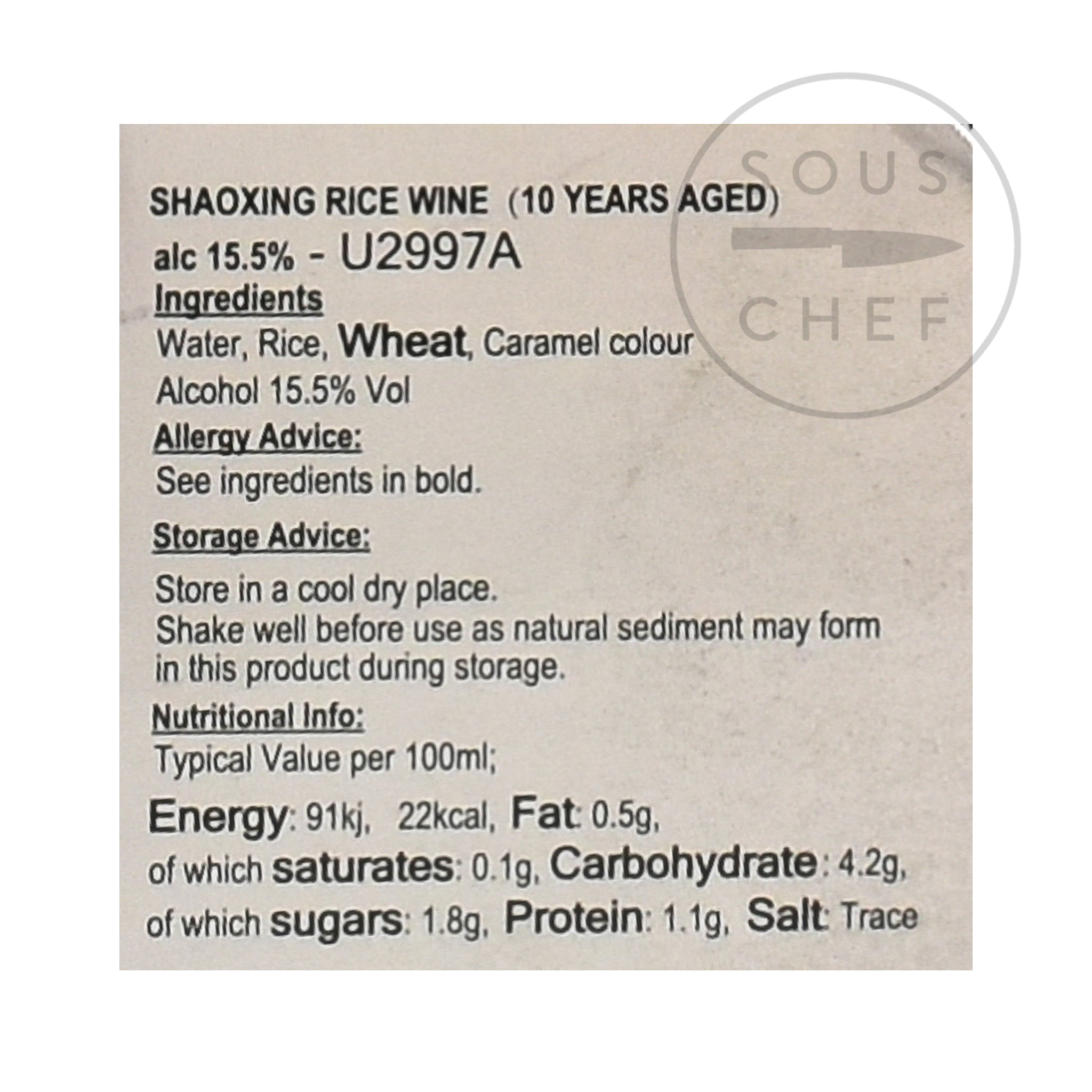 Shaoxing Rice Wine - 10 Year Aged 500ml