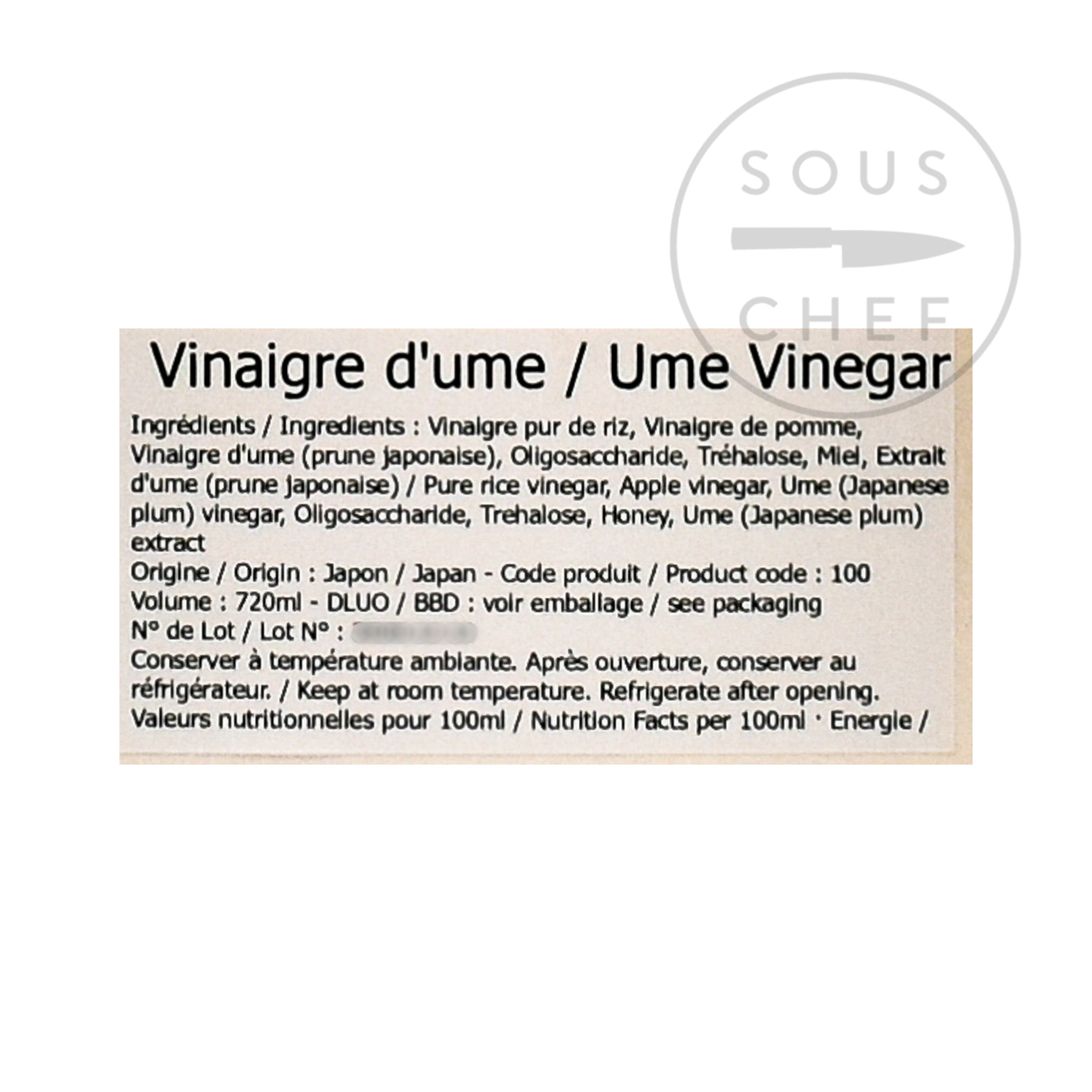 Ume Drinking Vinegar 720ml