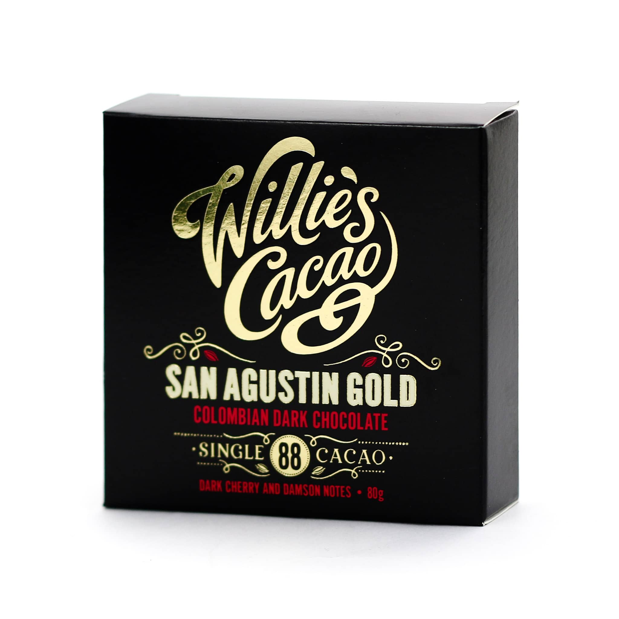 Willie's Cacao San Agustin Gold 88% Colombian Dark Chocolate 80g