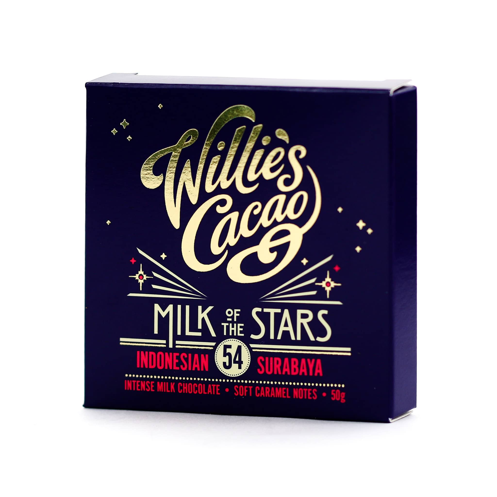 Willie's Cacao Milk of the Stars 54% Milk Chocolate 50g
