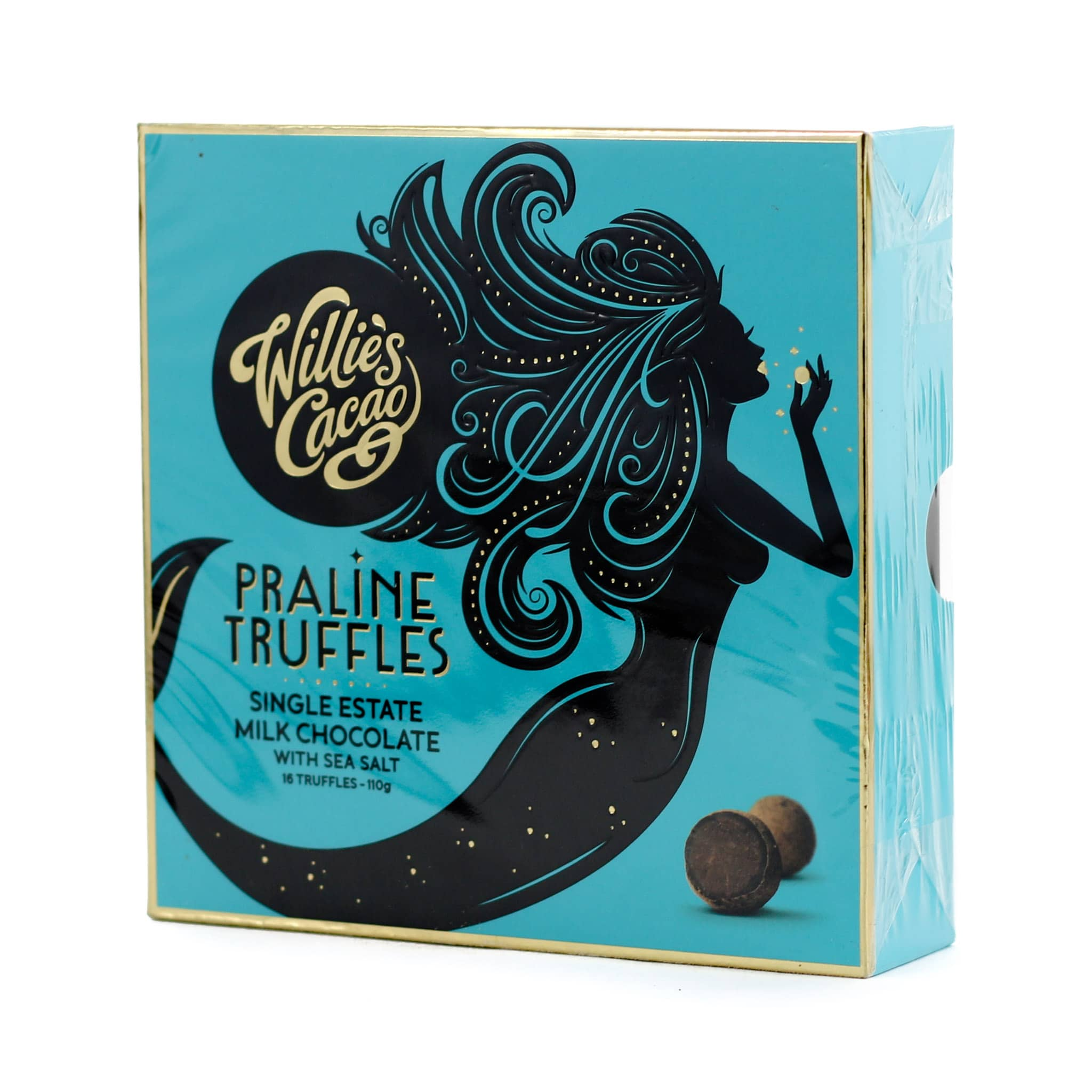 Willie's Cacao Milk Chocolate Praline Truffles with Sea Salt 110g
