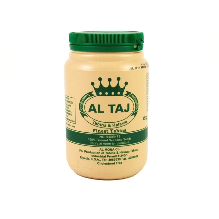 Al Taj Tahini 450g Ingredients Sauces & Condiments Middle Eastern Food