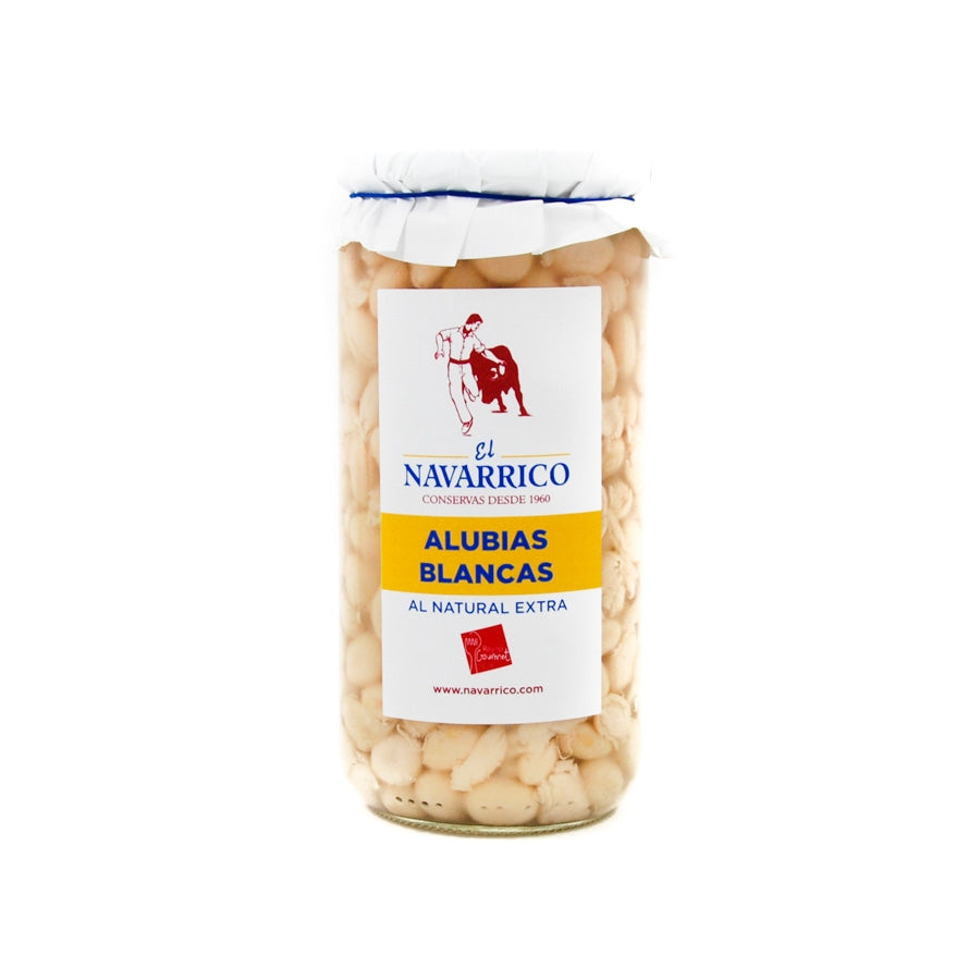 Navarrico Alubias - Haricot Beans 660g Ingredients Tofu & Beans & Pulses Spanish Food