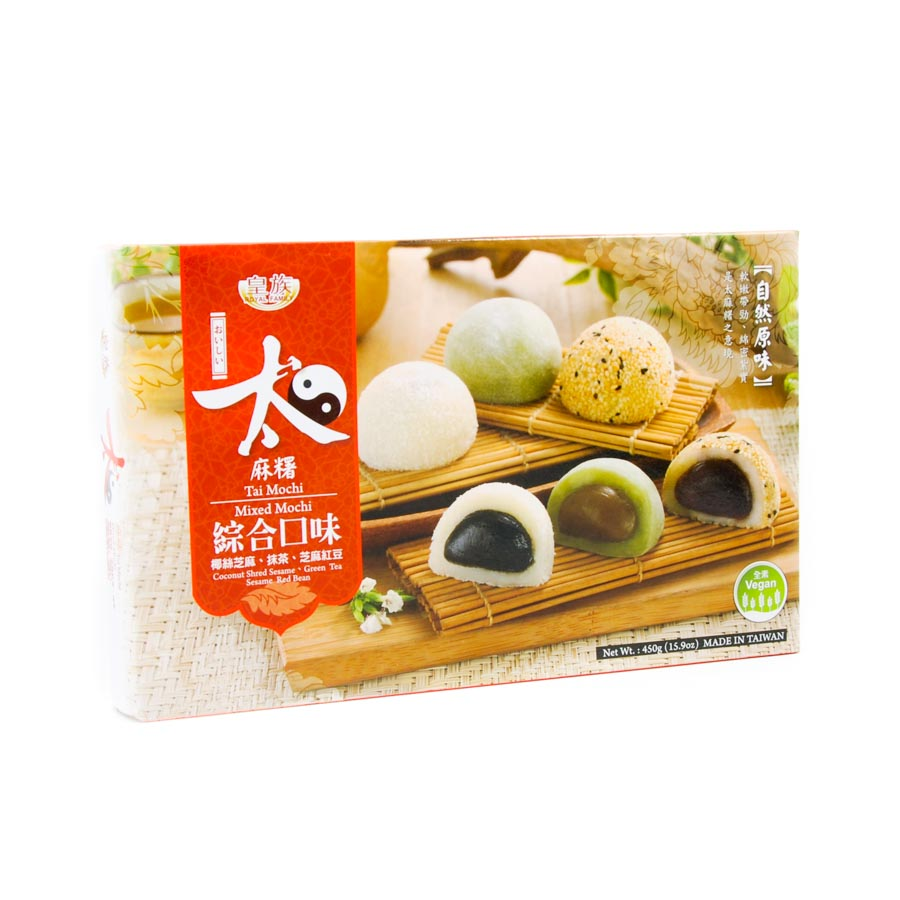 RF Assorted Mochi - Red Bean, Green Tea, Coconut 450g Ingredients Chocolate Bars & Confectionery
