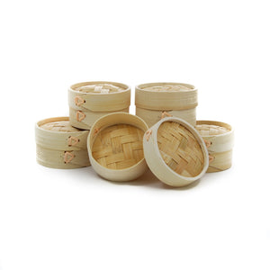 Mini Bamboo Steamers x 10