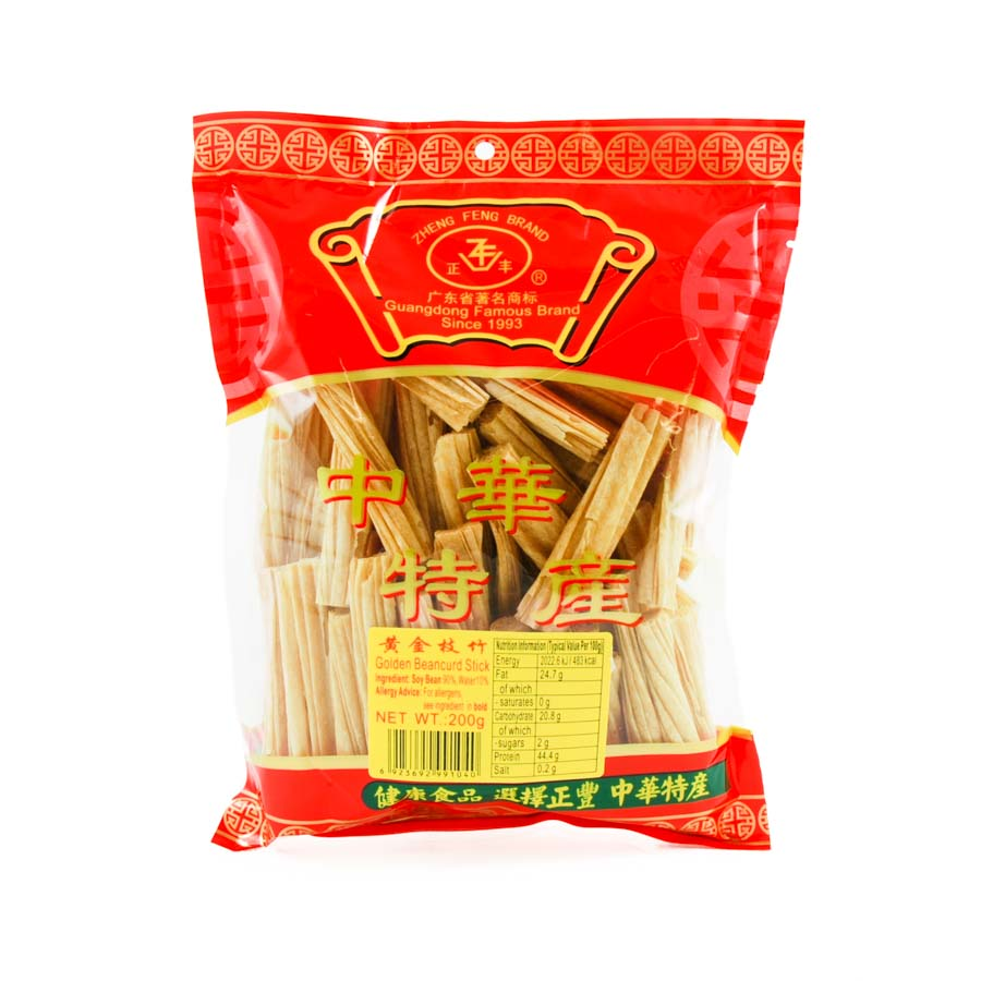 Zheng Feng Dried Bean Curd Sticks 200g Ingredients Tofu & Beans & Pulses