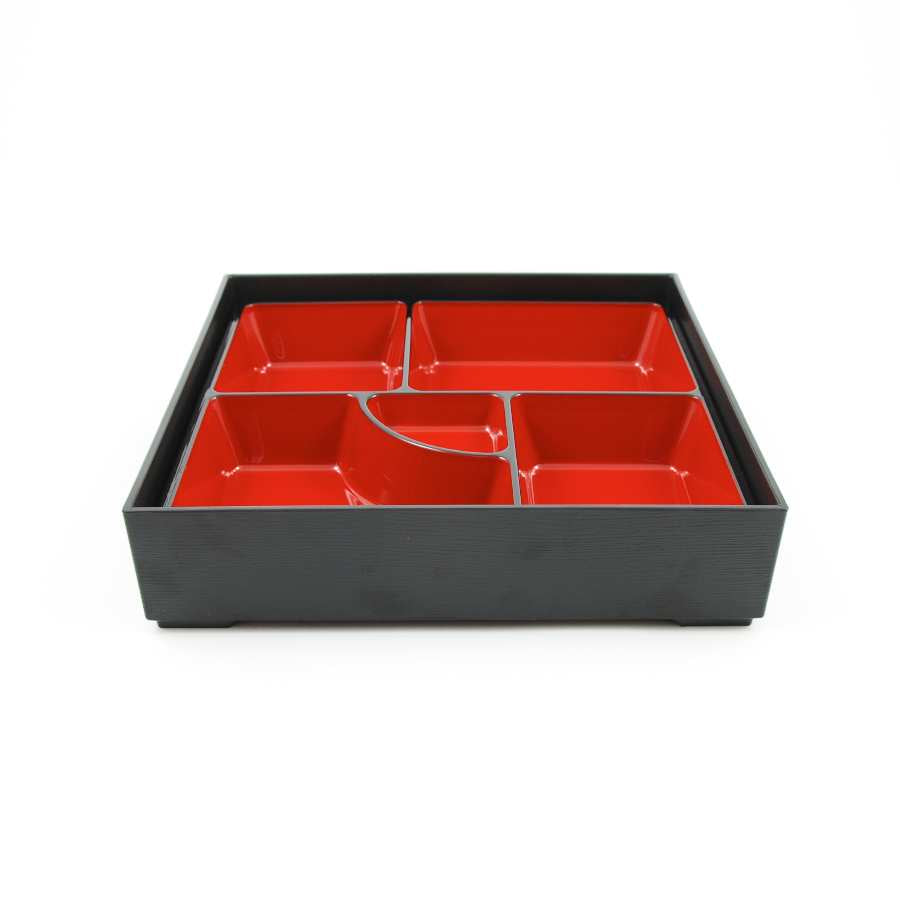 Classic Bento Box - 5 Compartment Square