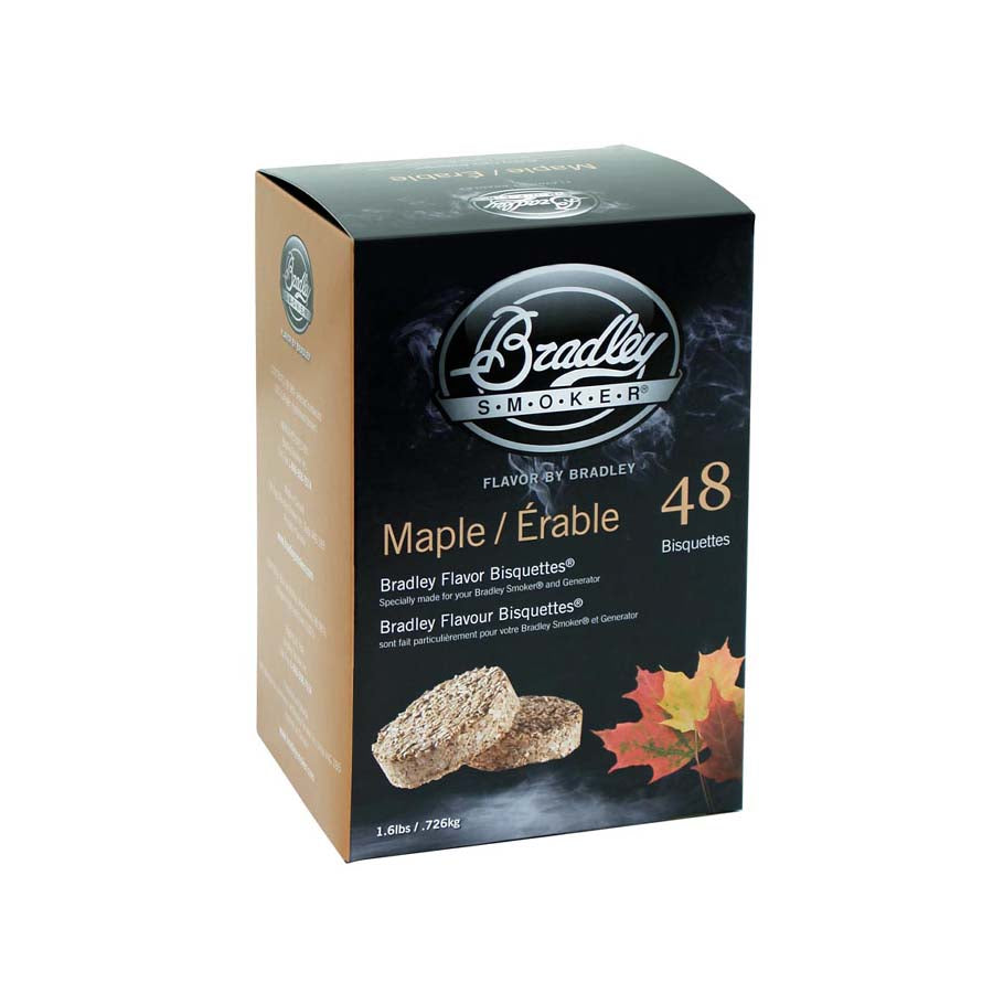 Bradley Smoker Bradley Maple Bisquettes Pack of 48 Cookware Food Smokers & BBQ